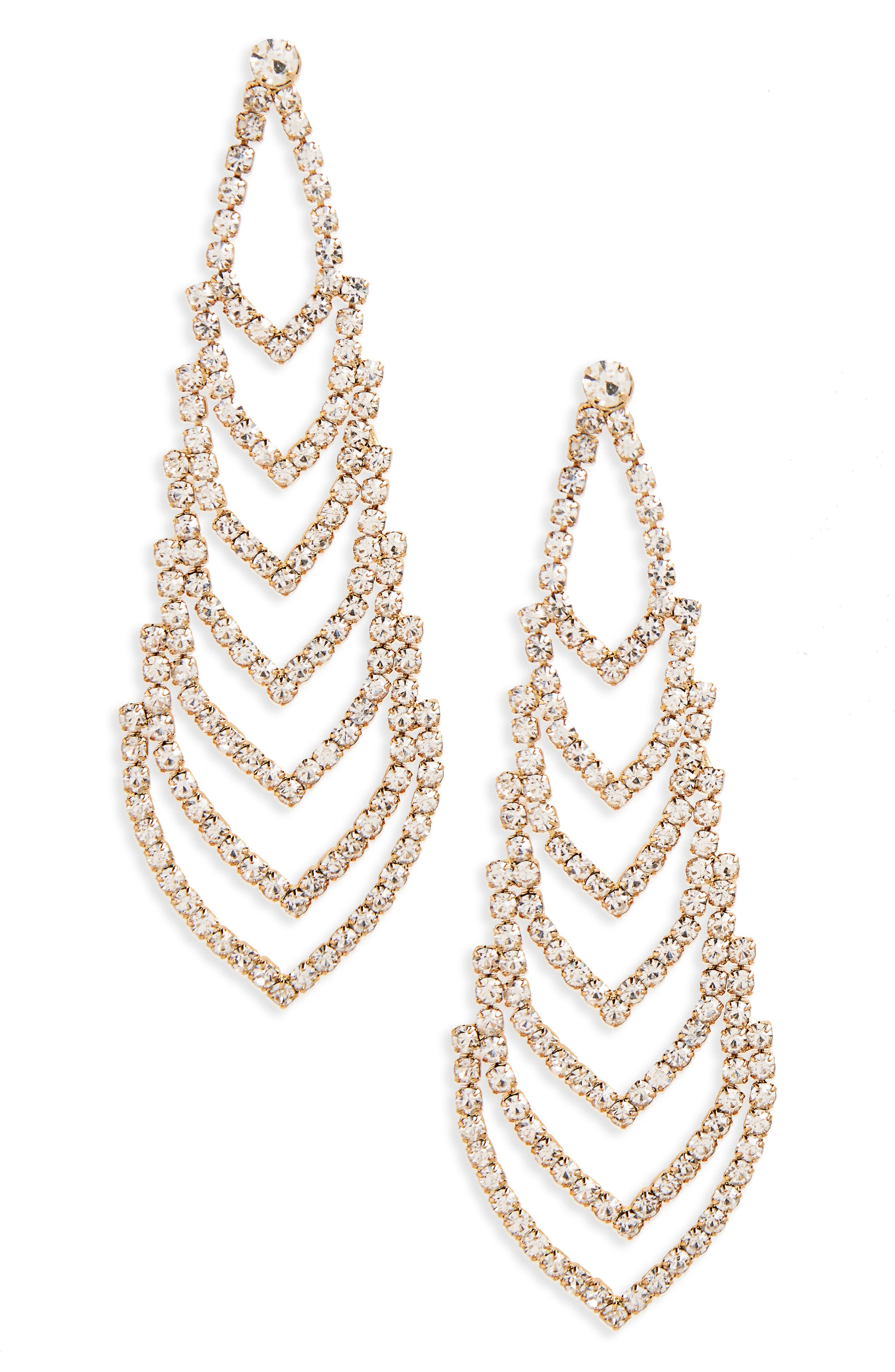 NINA Crystal Chandelier Earrings