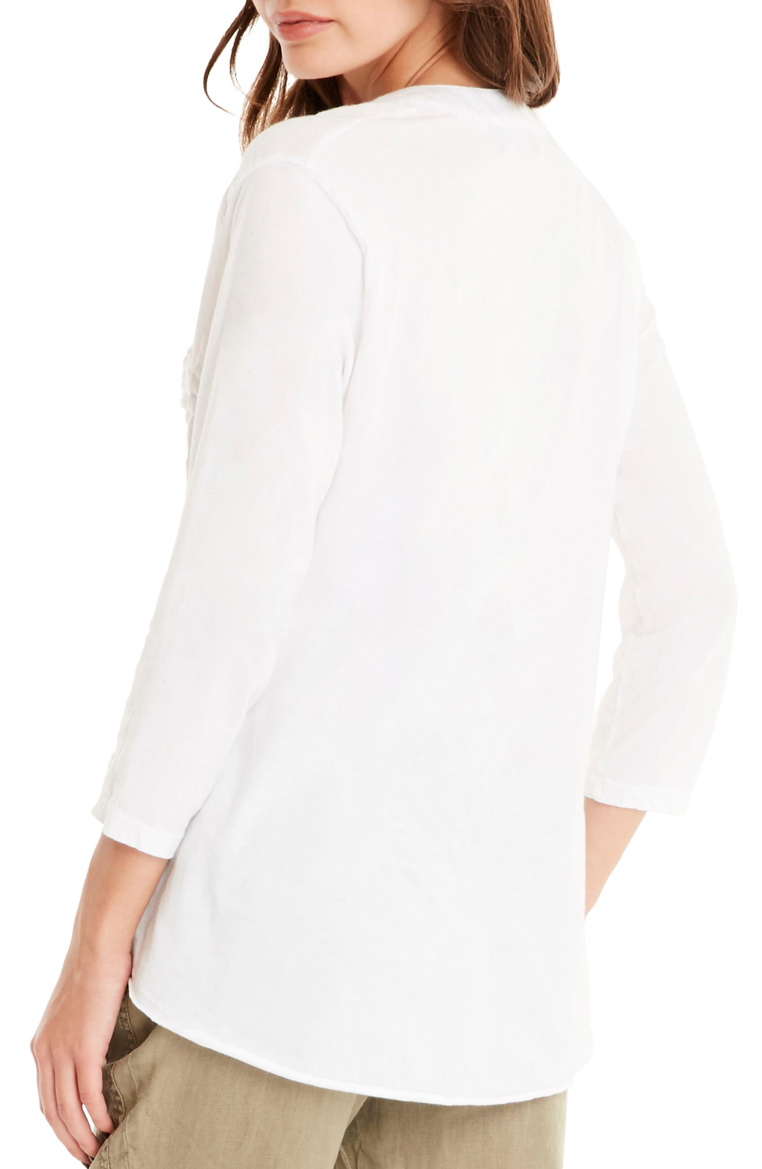 Cotton Tunic,                             Alternate thumbnail 2, color,                             White