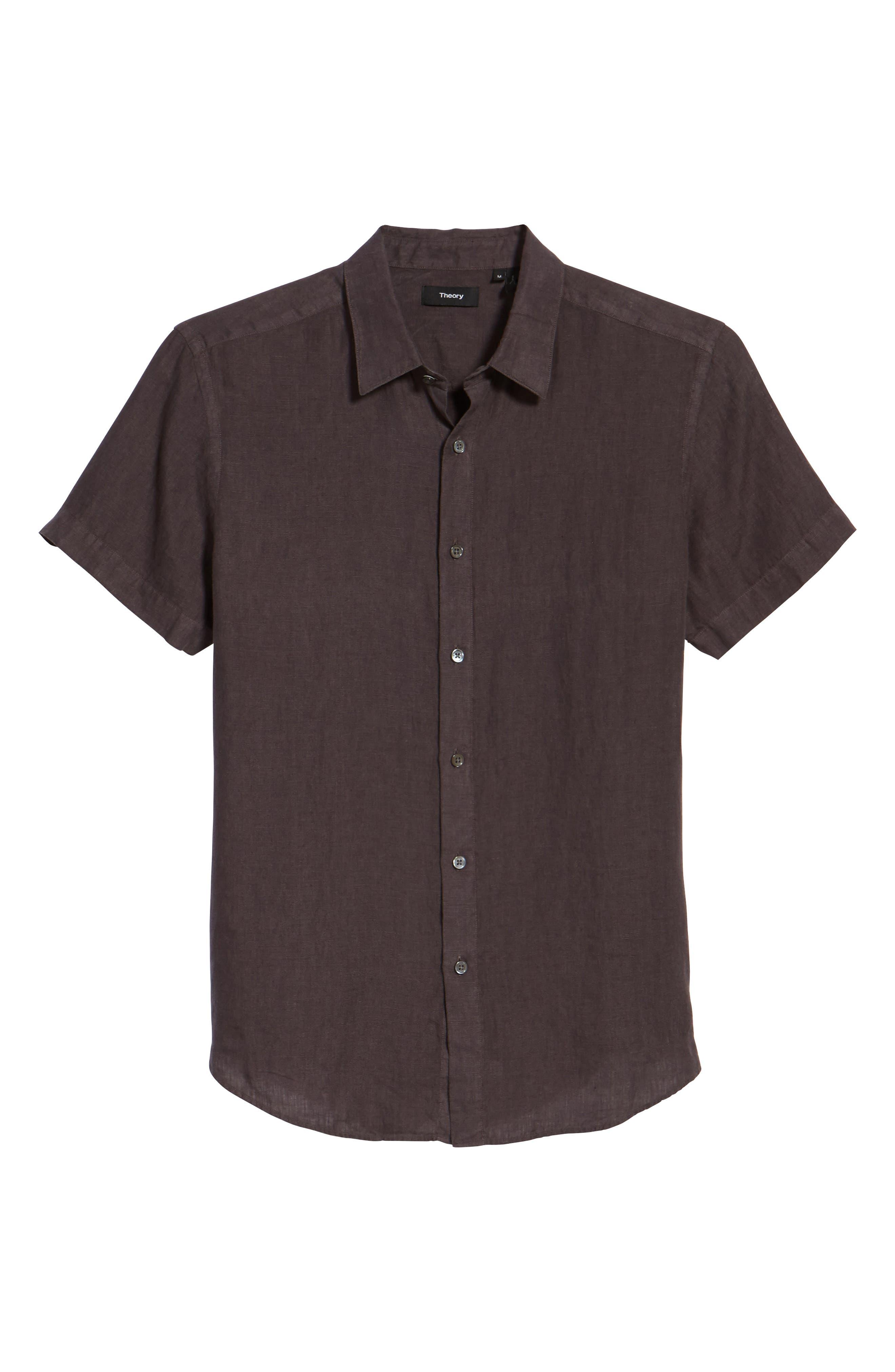 Alternate Image 1 Selected - Theory Clark Trim Fit Linen Sport Shirt