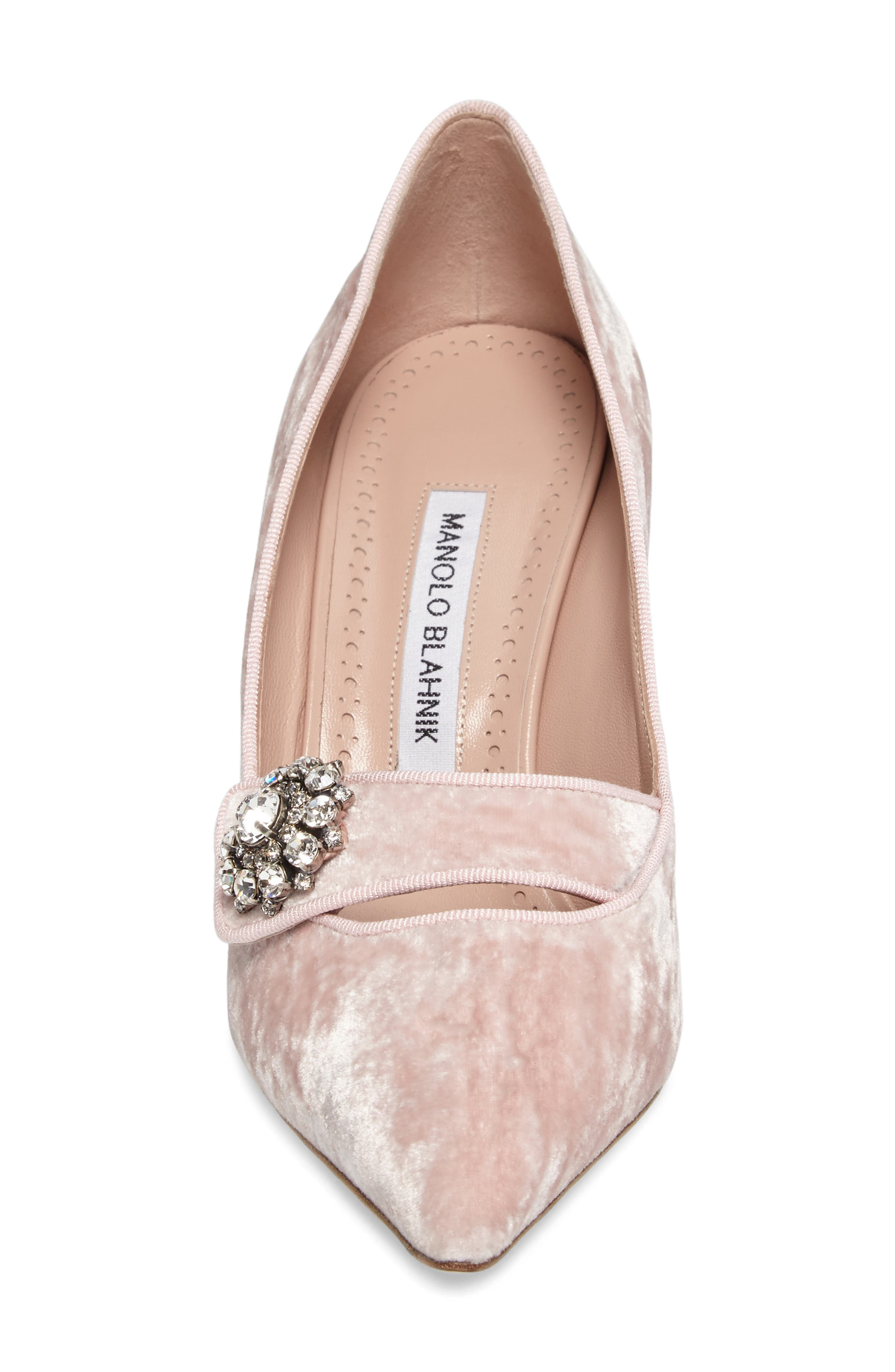 Decebalo Pump,                             Alternate thumbnail 4, color,                             Blush Velvet