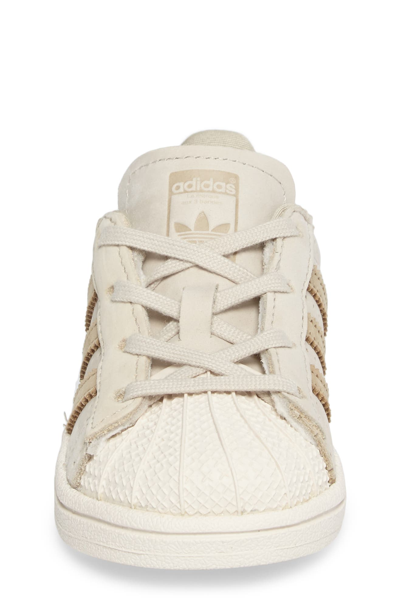 Alternate Image 4  - adidas Stan Smith Fashion I Perforated Sneaker (Baby, Walker, Toddler & Little Kid)