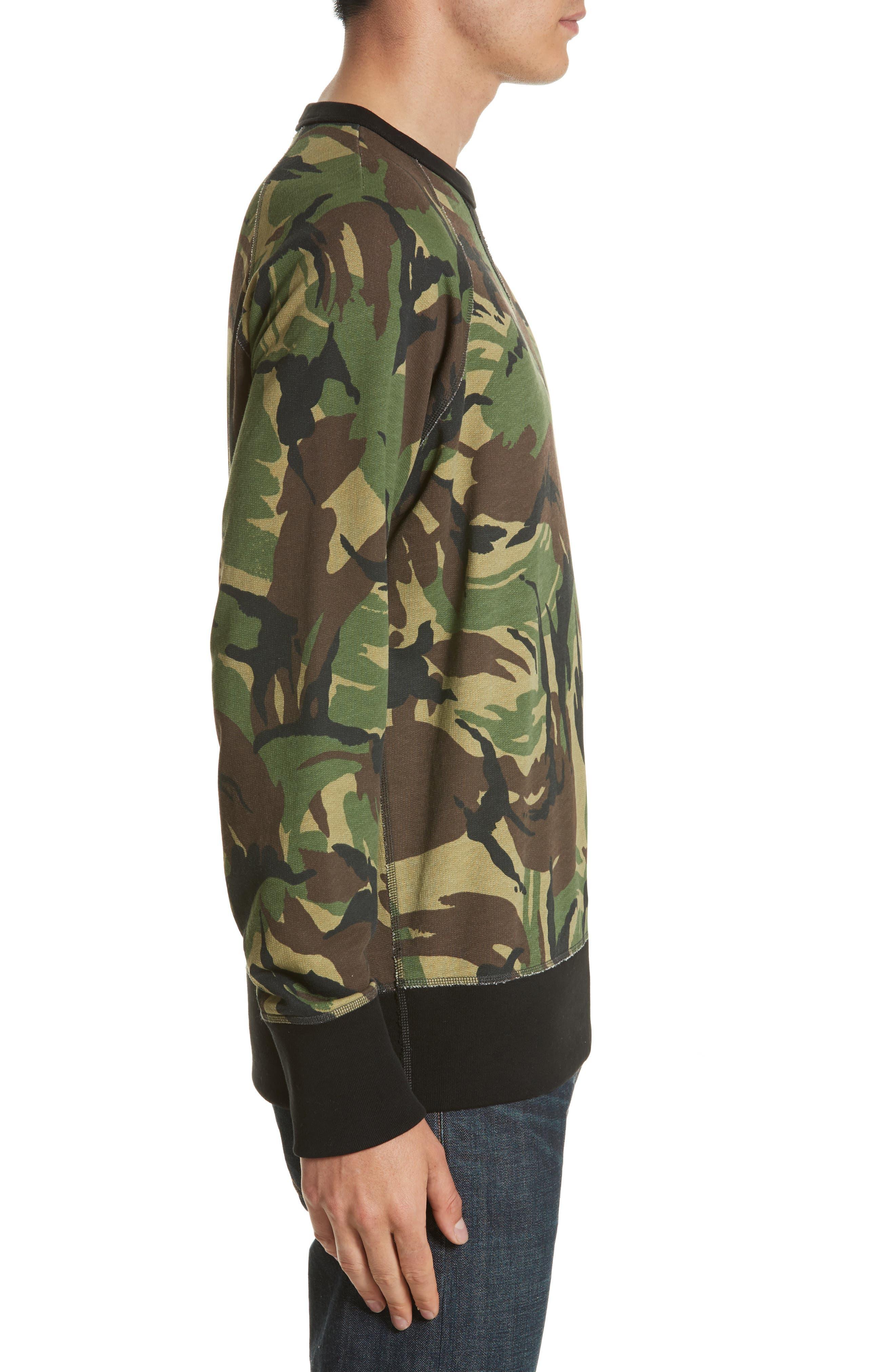 Alternate Image 3  - rag & bone Camo Sweatshirt