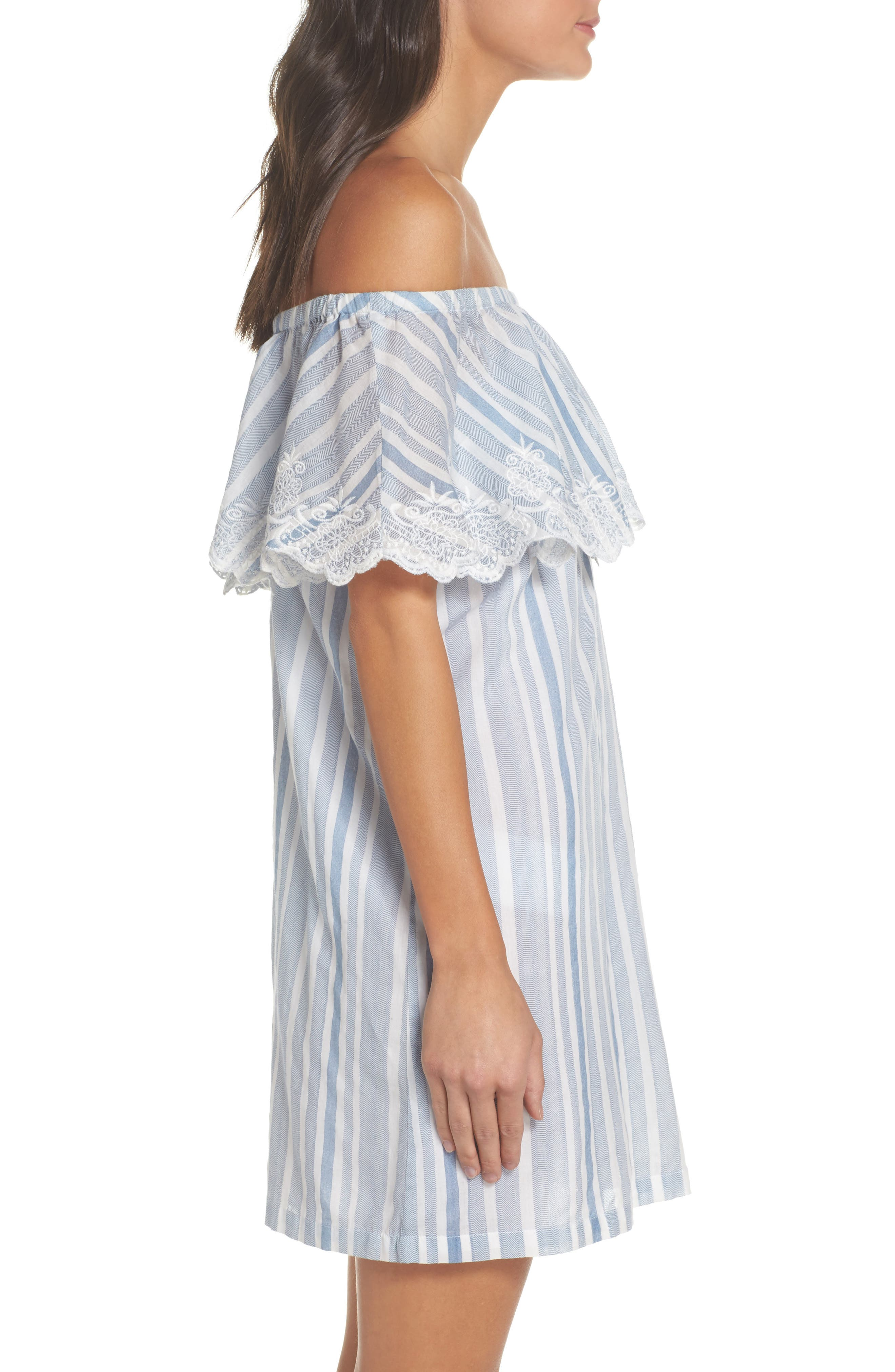Alternate Image 3  - PilyQ Penelope Embroidered Cover-Up Dress