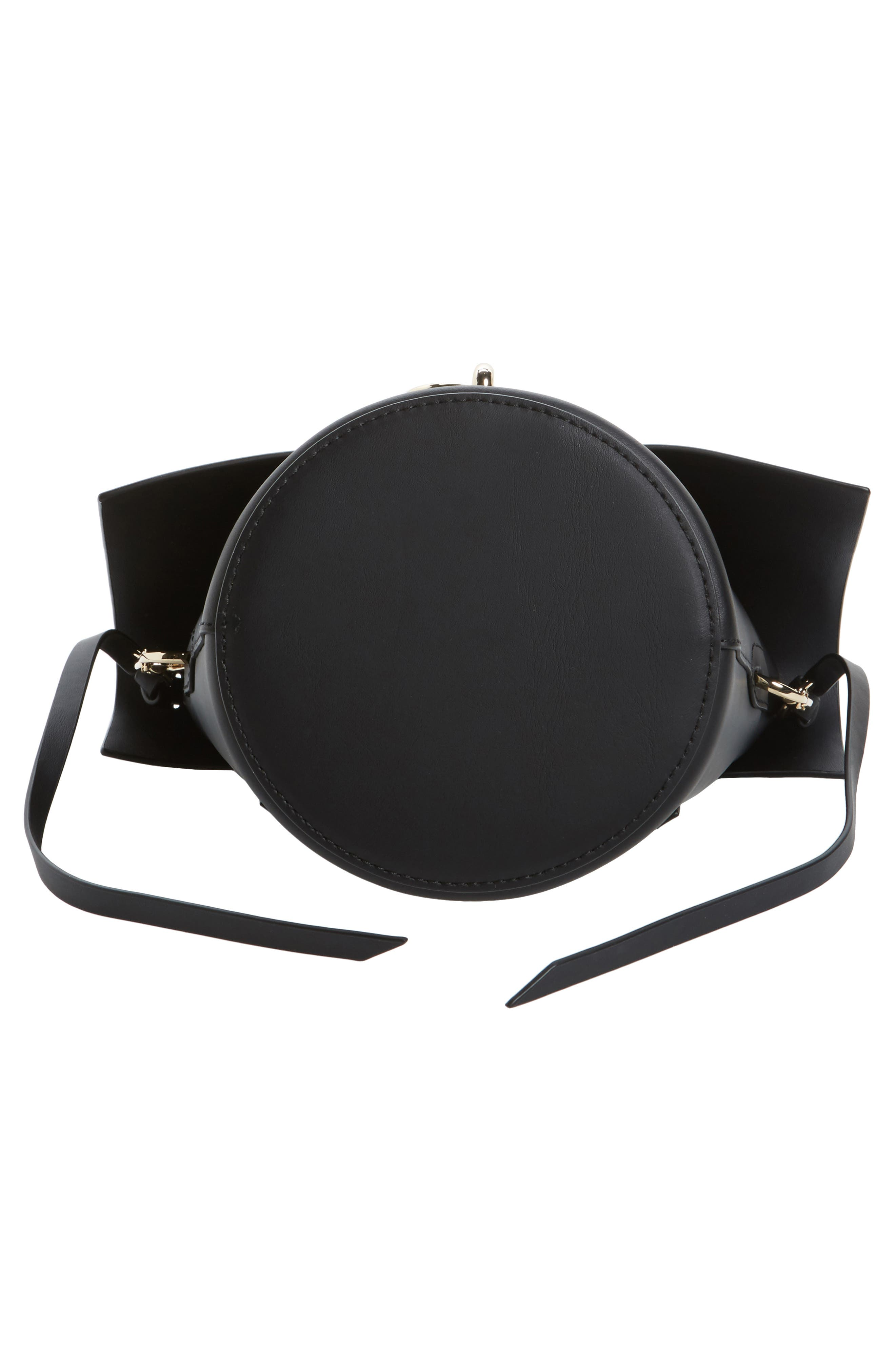 Belay Leather Crossbody Bag,                             Alternate thumbnail 5, color,                             Black