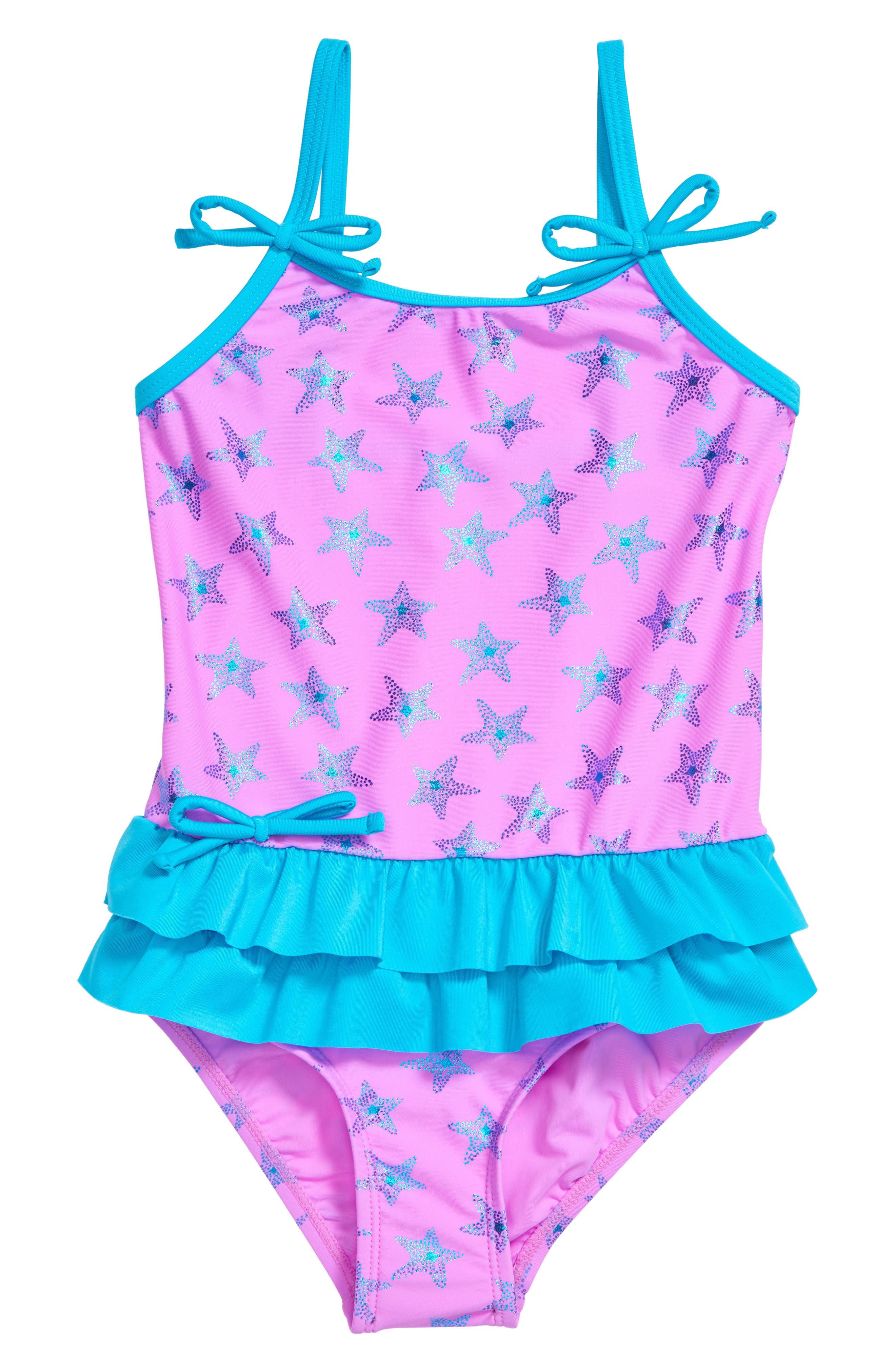 Hula Star Starfish One-Piece Swimsuit (Toddler & Little Girls)