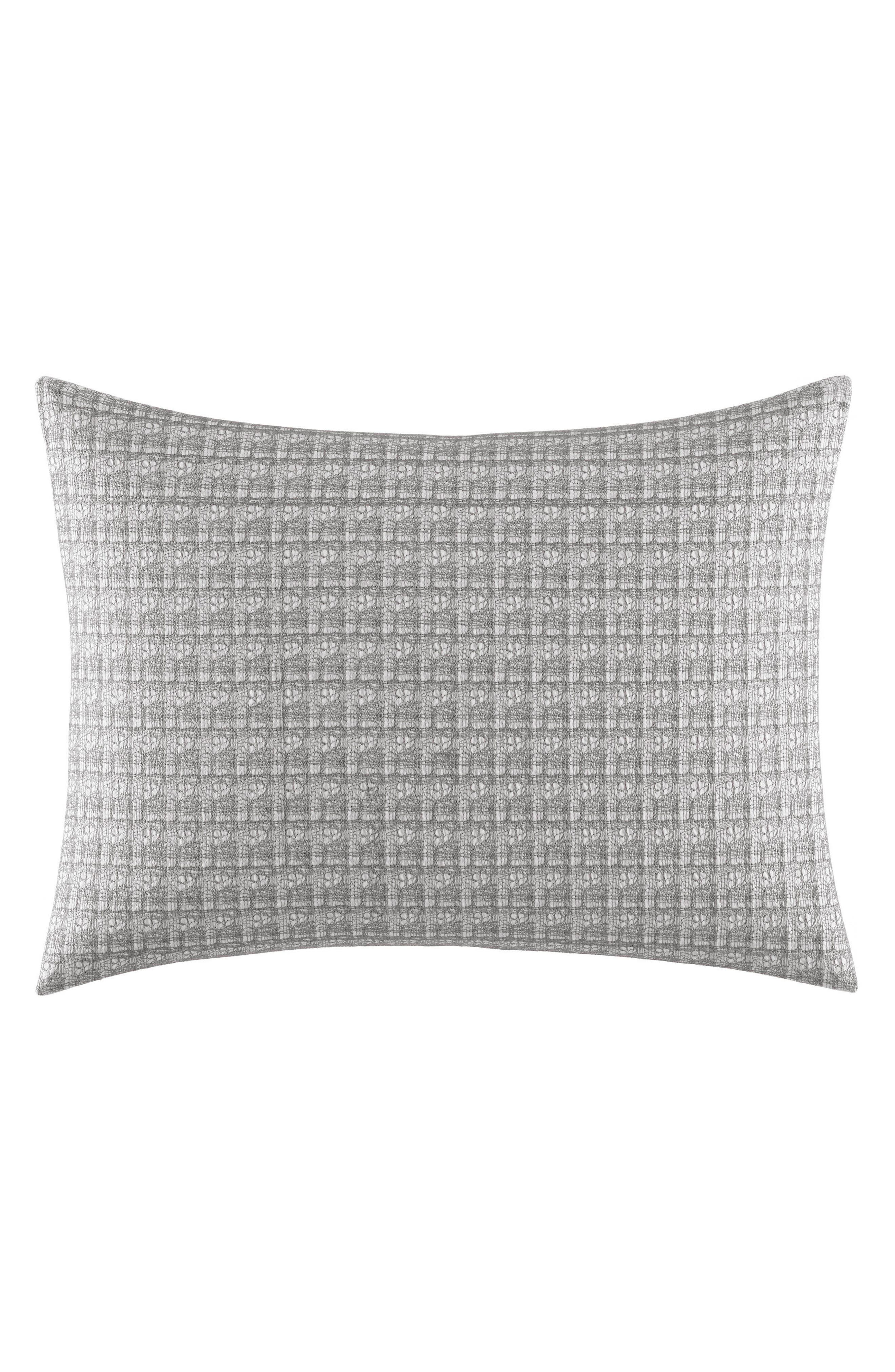 Mirrored Breakfast Accent Pillow,                             Main thumbnail 1, color,                             Grey
