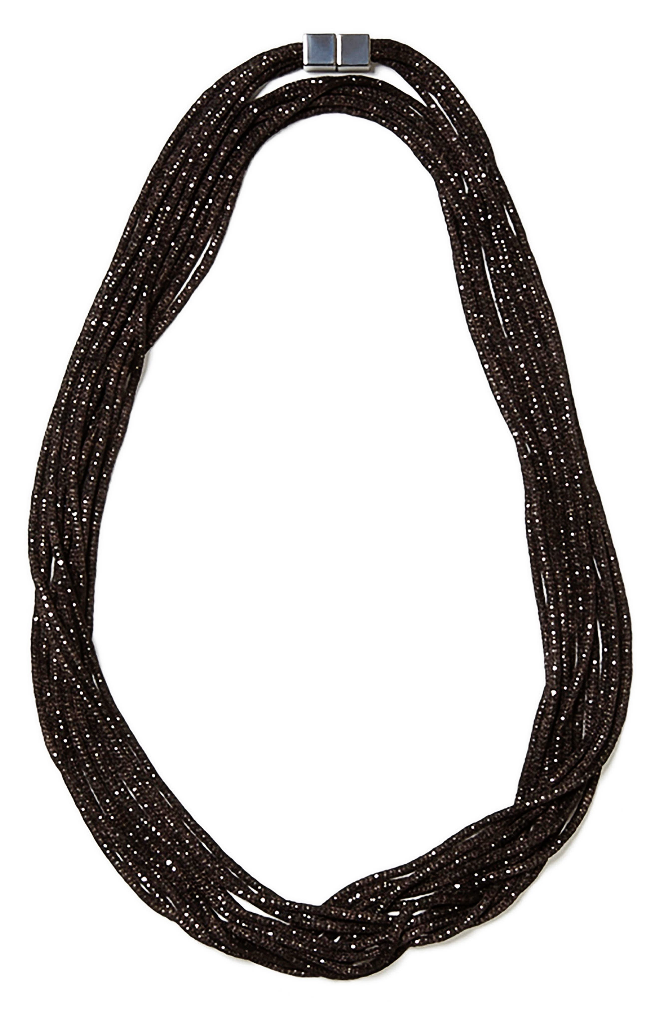 Main Image - Lafayette 148 New York Mesh Chain Multistrand Necklace