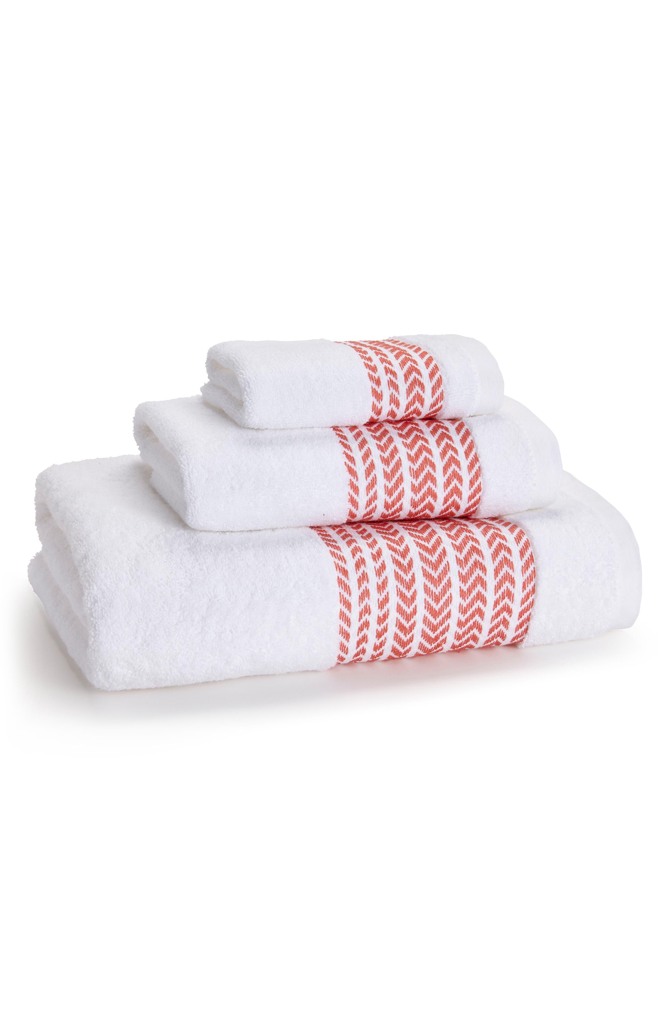 Baja Washcloth,                         Main,                         color, Poppy Coral