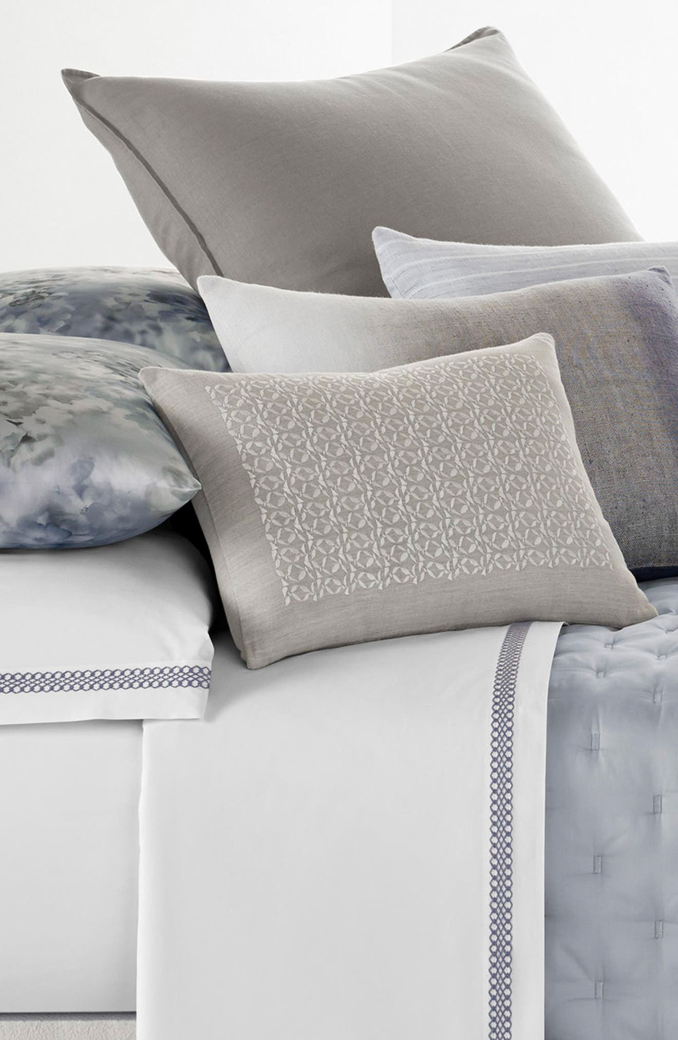 Veiled Bouquet Breakfast Accent Pillow,                             Alternate thumbnail 2, color,                             Light Grey
