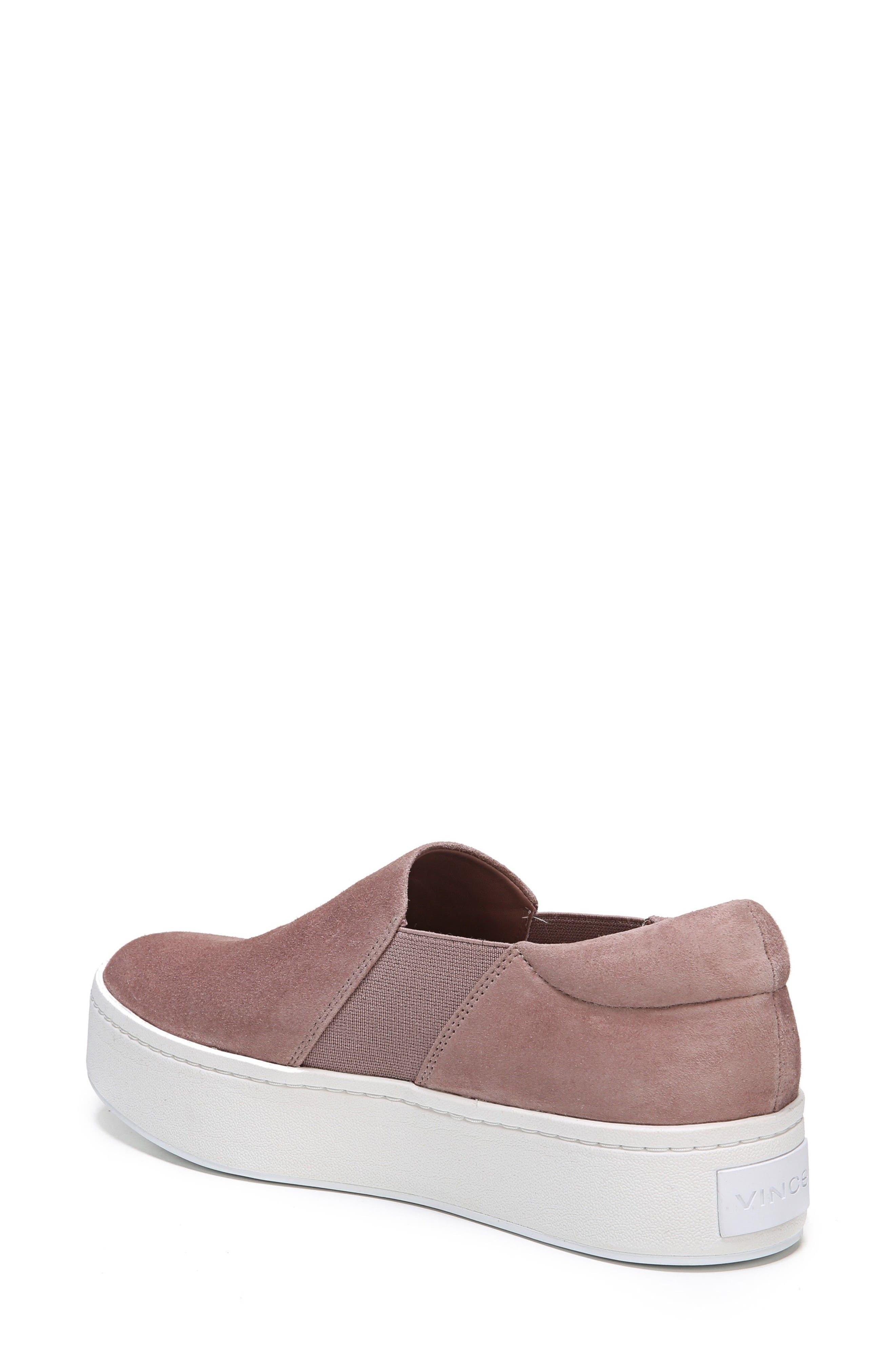 Warren Slip-On Sneaker,                             Alternate thumbnail 2, color,                             Hydrangea Suede