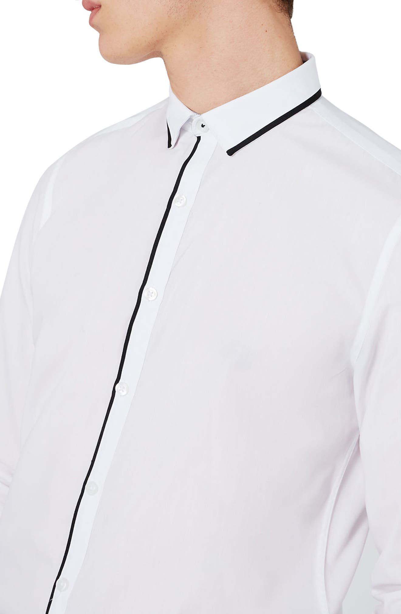 Alternate Image 5  - Topman Slim Fit Contrast Dress Shirt