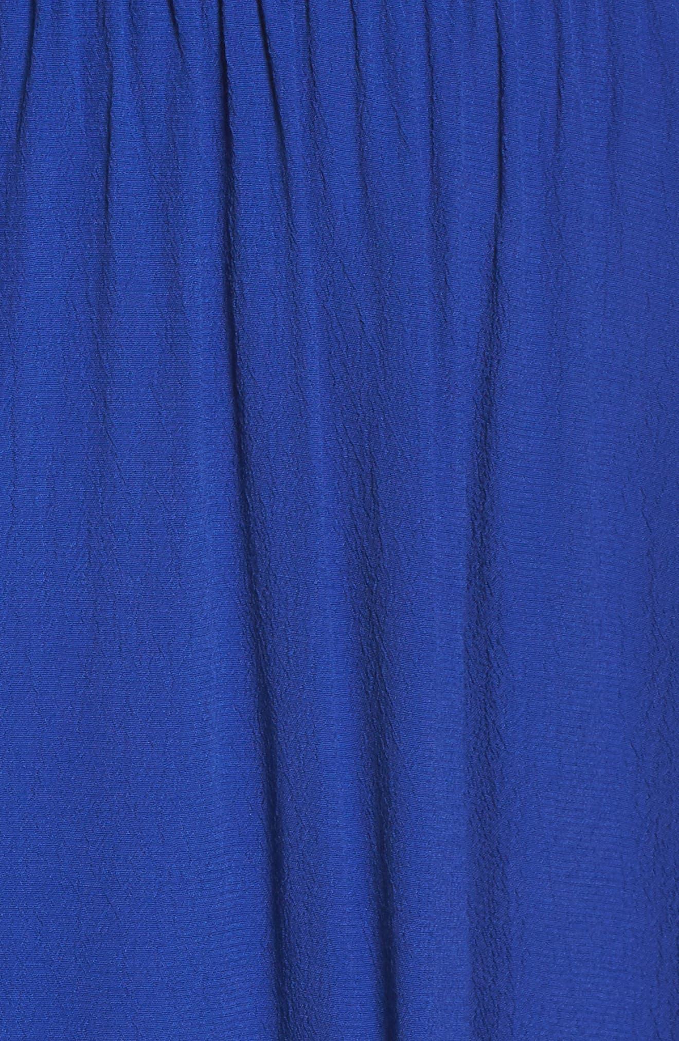 Halter Midi Dress,                             Alternate thumbnail 5, color,                             Blue