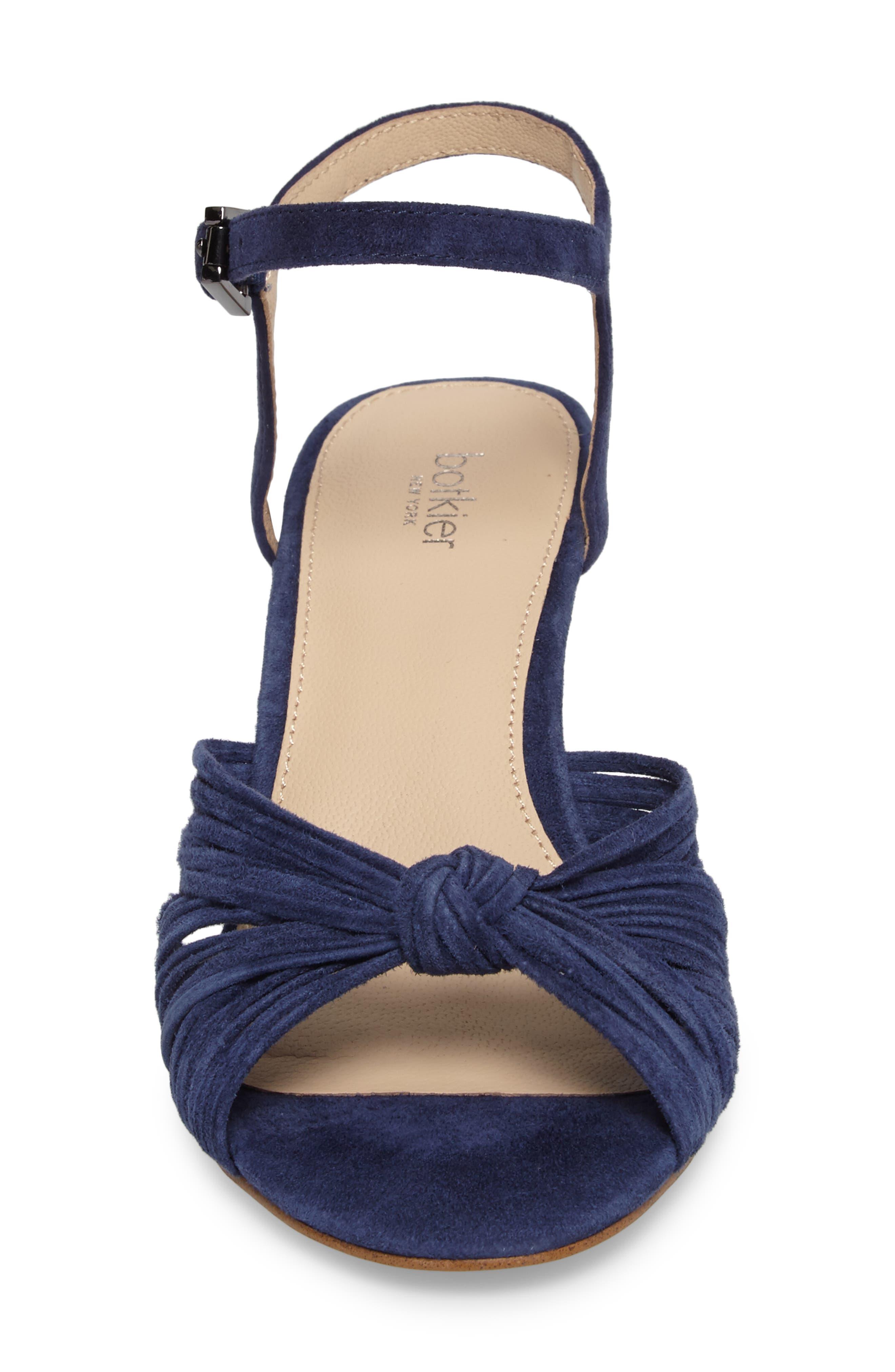 Patsy Block Heel Sandal,                             Alternate thumbnail 4, color,                             Navy