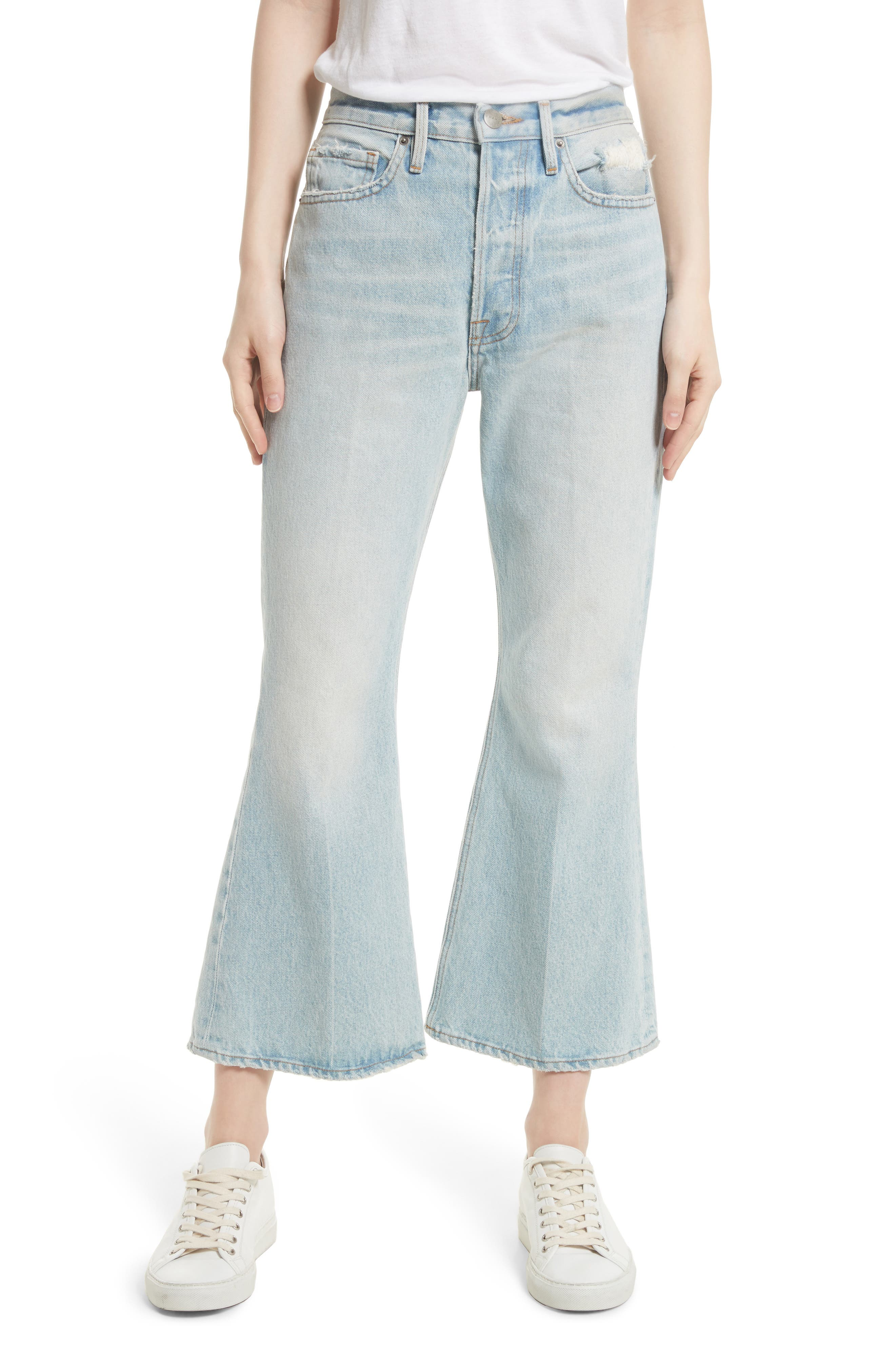 FRAME Re-Release Le Crop Flare High Waist Jeans