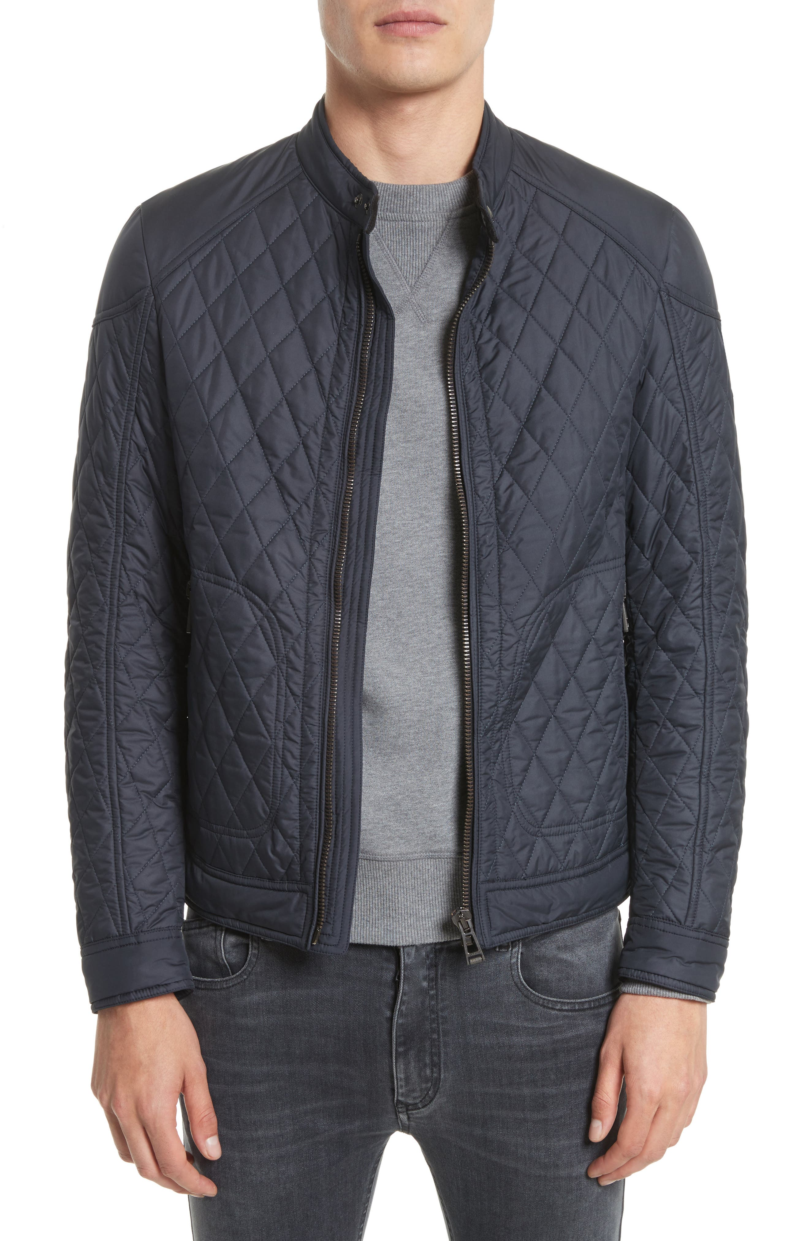 Bramley 2.0 Quilted Jacket,                             Main thumbnail 1, color,                             Dark Navy