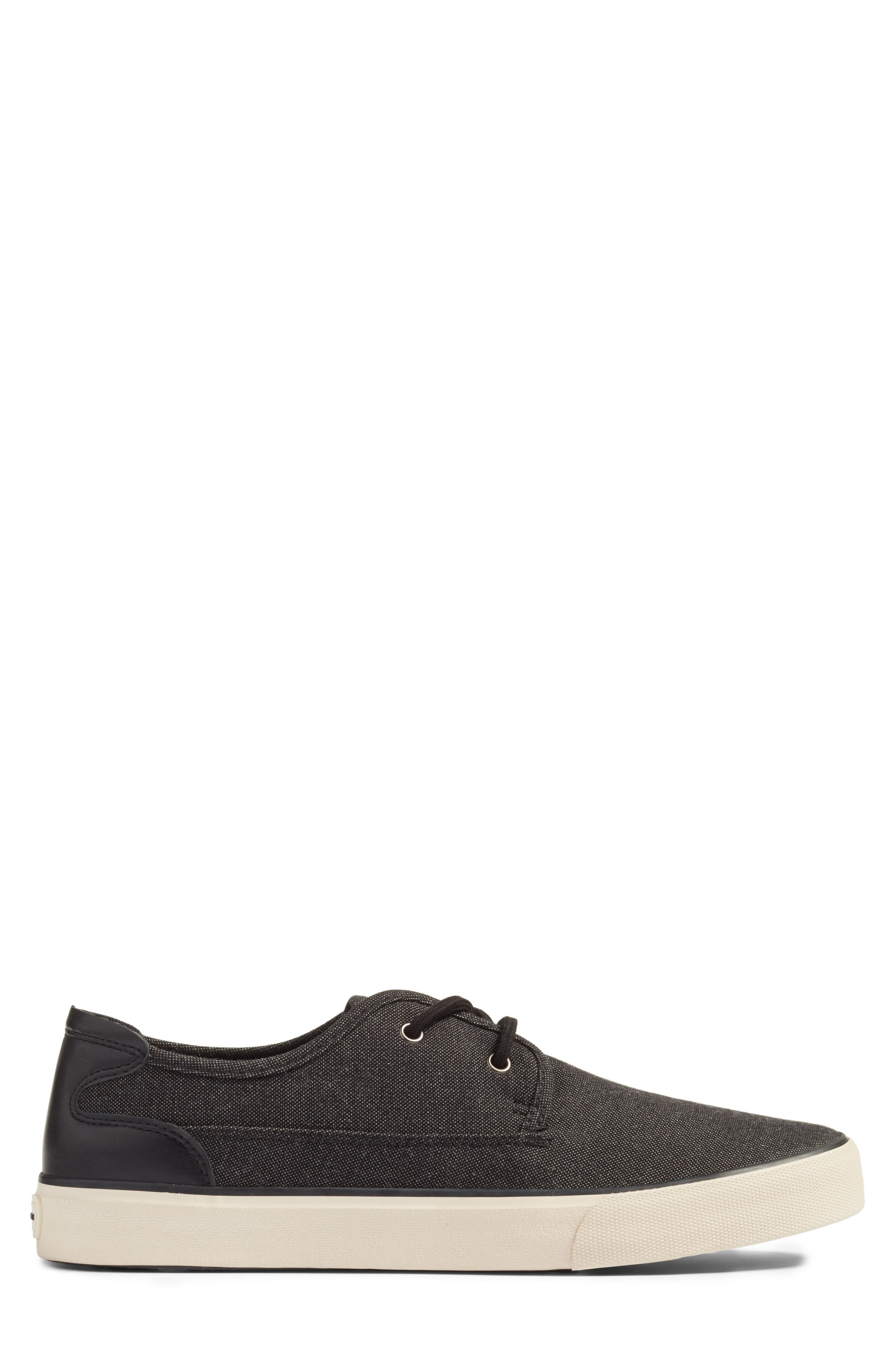 Morris Sneaker,                             Alternate thumbnail 3, color,                             Black/ Bone