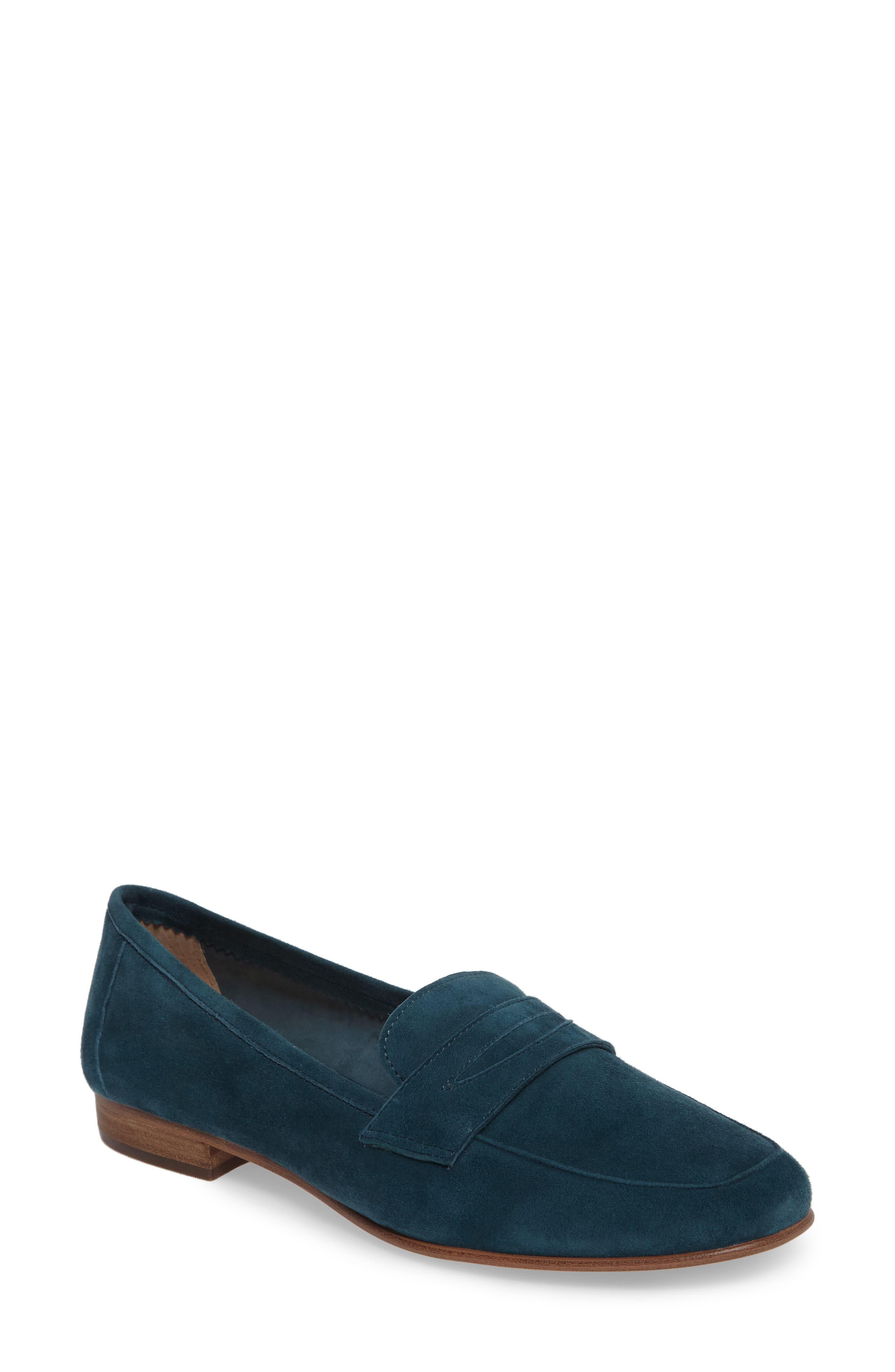 Elroy Penny Loafer,                             Main thumbnail 1, color,                             Biscay Bay Suede