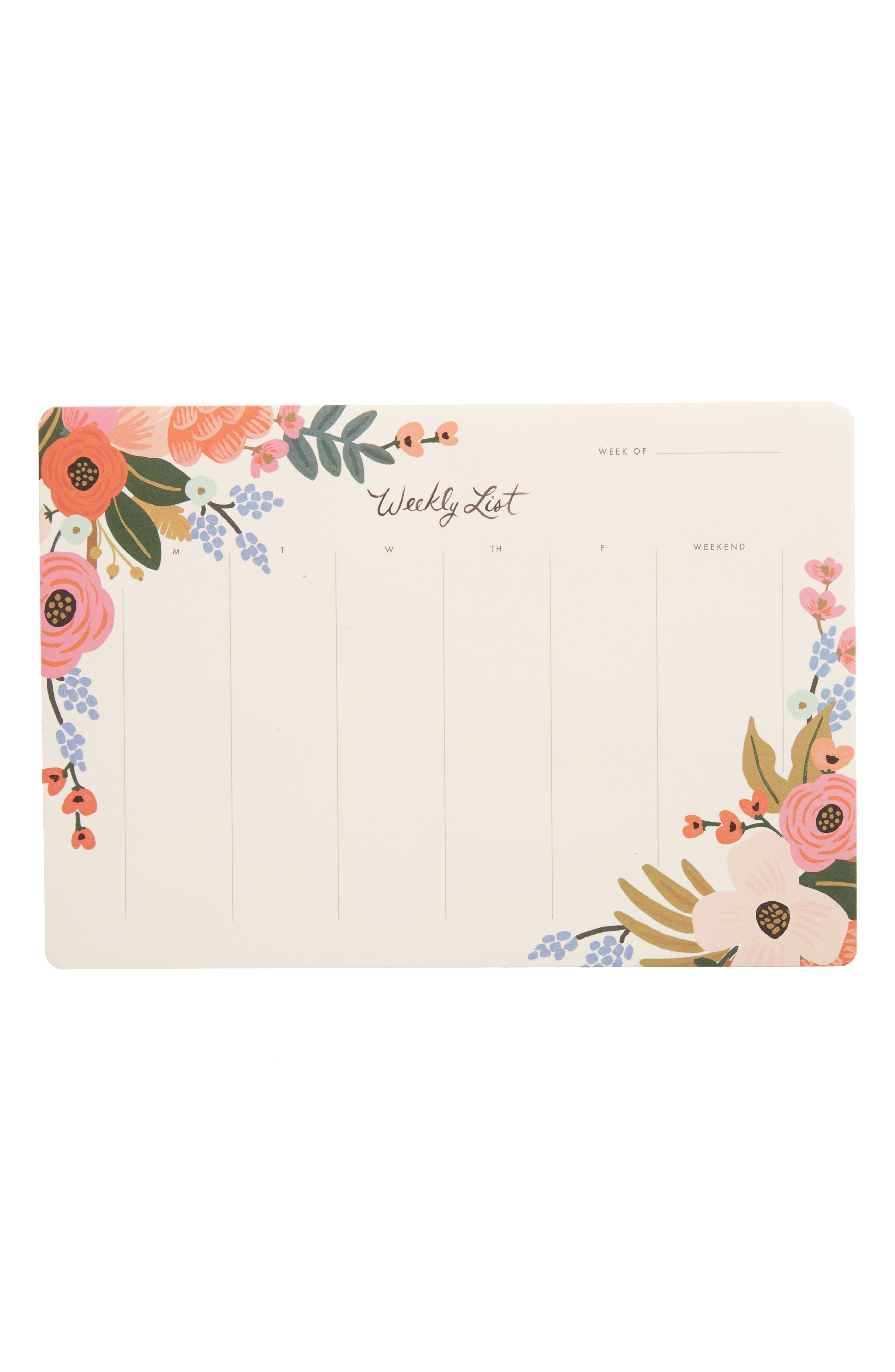 Rifle Paper Co. Lively Floral Weekly List Desk Pad