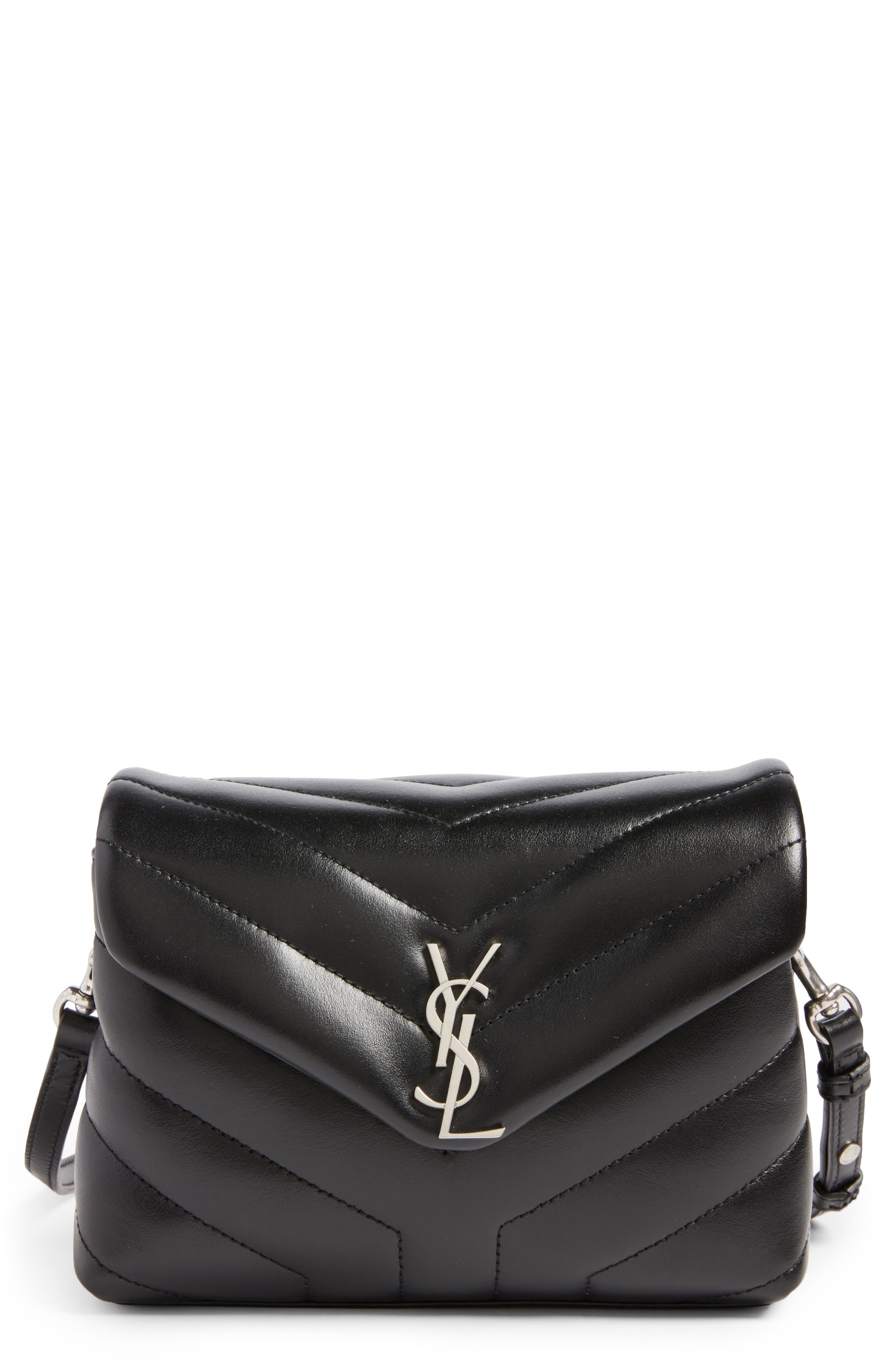 Alternate Image 1 Selected - Saint Laurent Toy LouLou Calfskin Leather Crossbody Bag