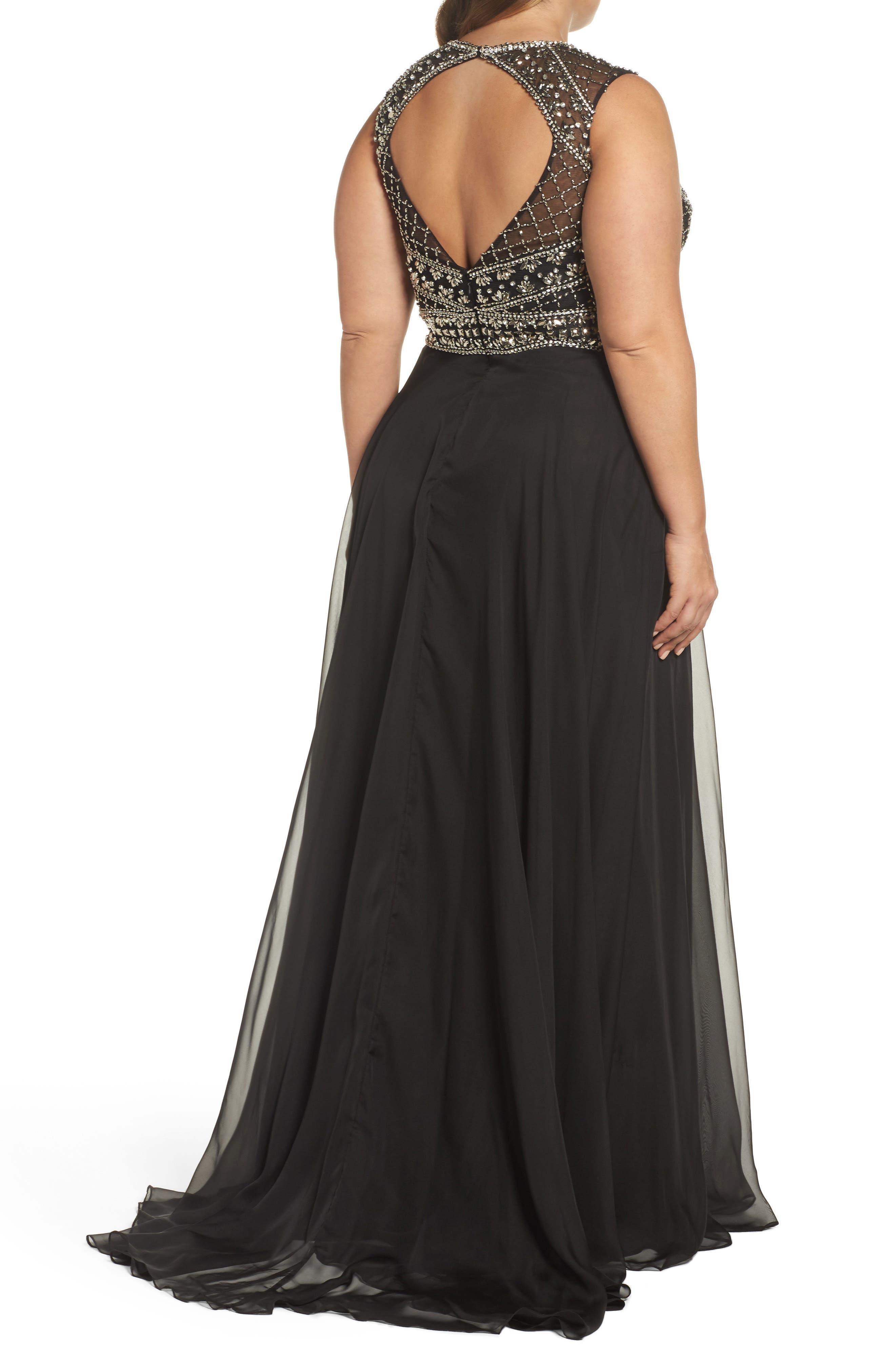 Alternate Image 2  - Mac Duggal Embellished Ballgown (Plus Size)