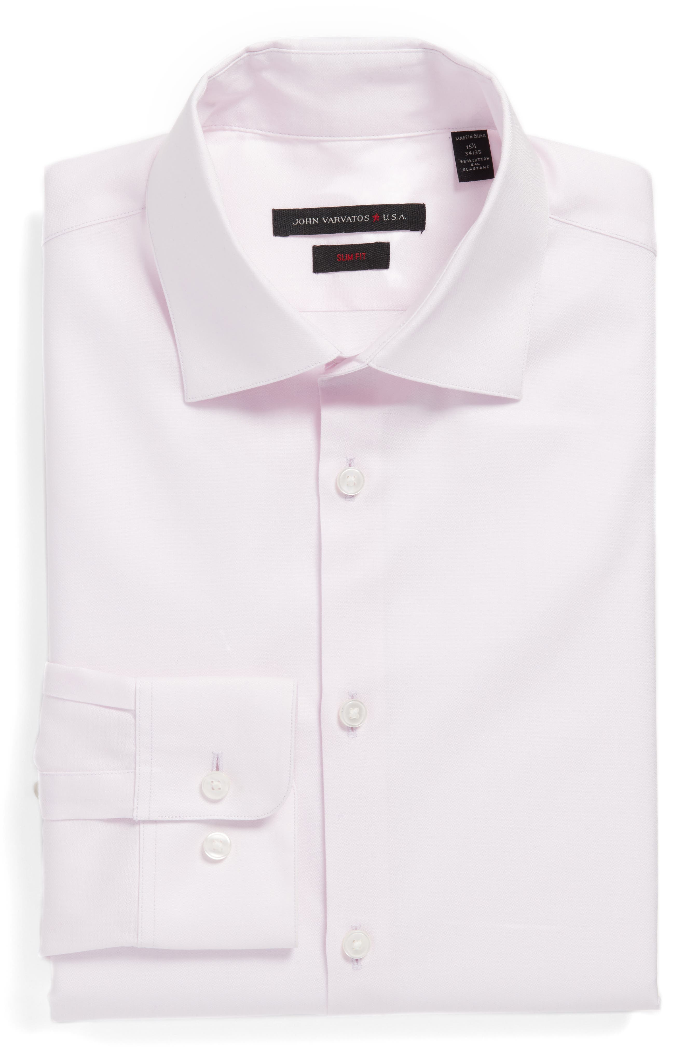 Alternate Image 1 Selected - John Varvatos Star USA Slim Fit Solid Stretch Dress Shirt