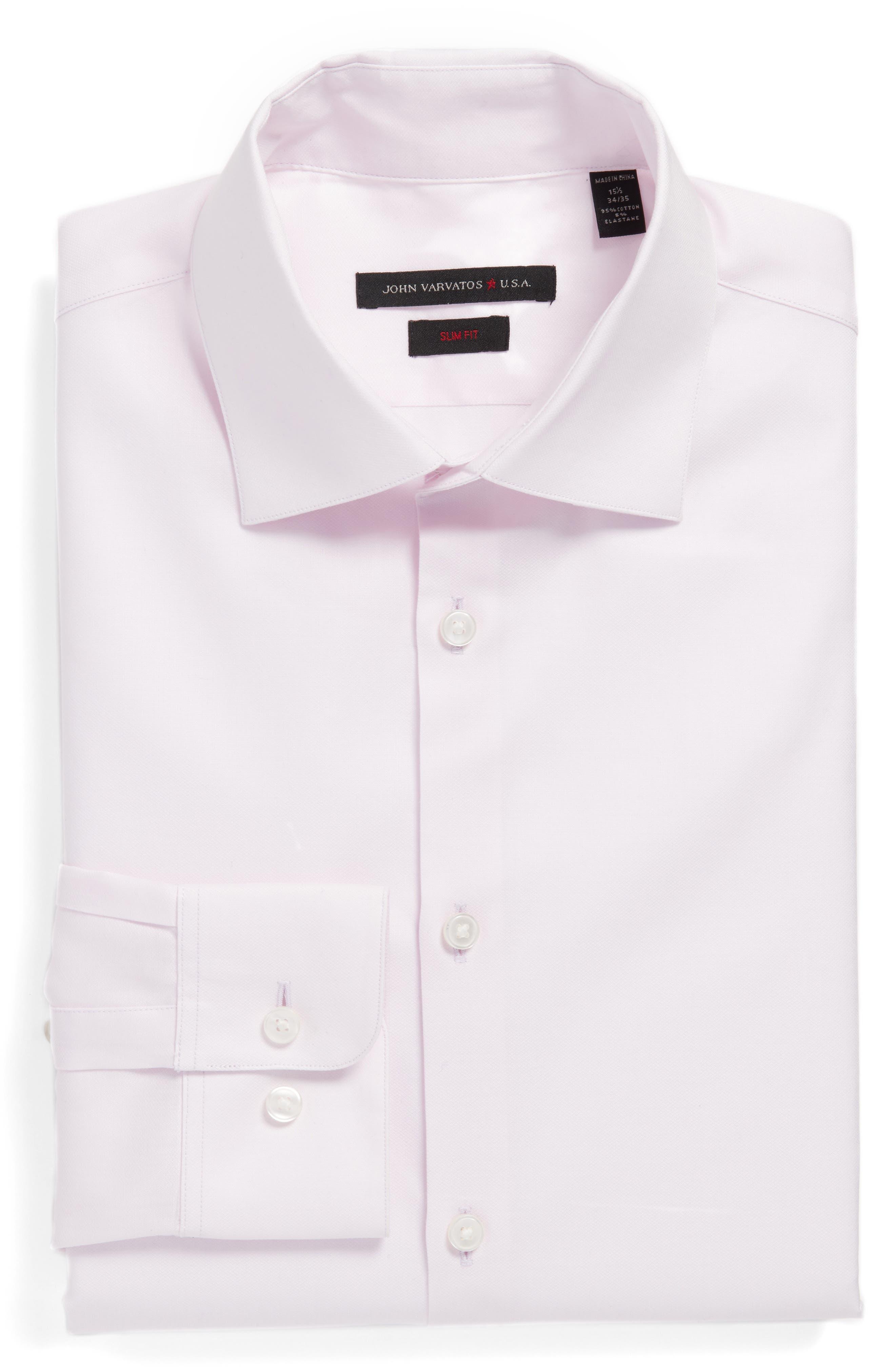 Main Image - John Varvatos Star USA Slim Fit Solid Stretch Dress Shirt