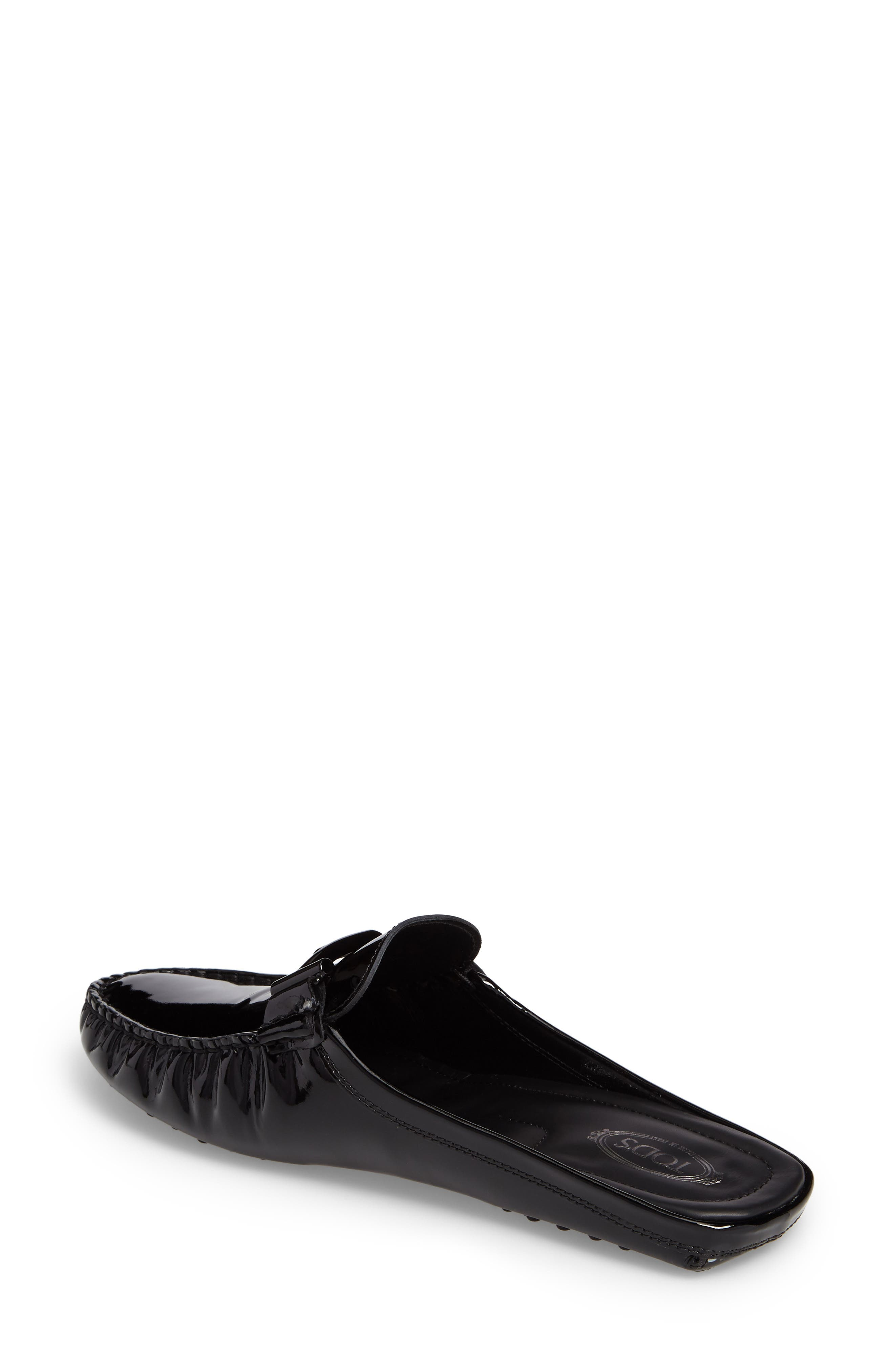 Gommino Double-T Loafer Mule,                             Alternate thumbnail 2, color,                             Black Patent