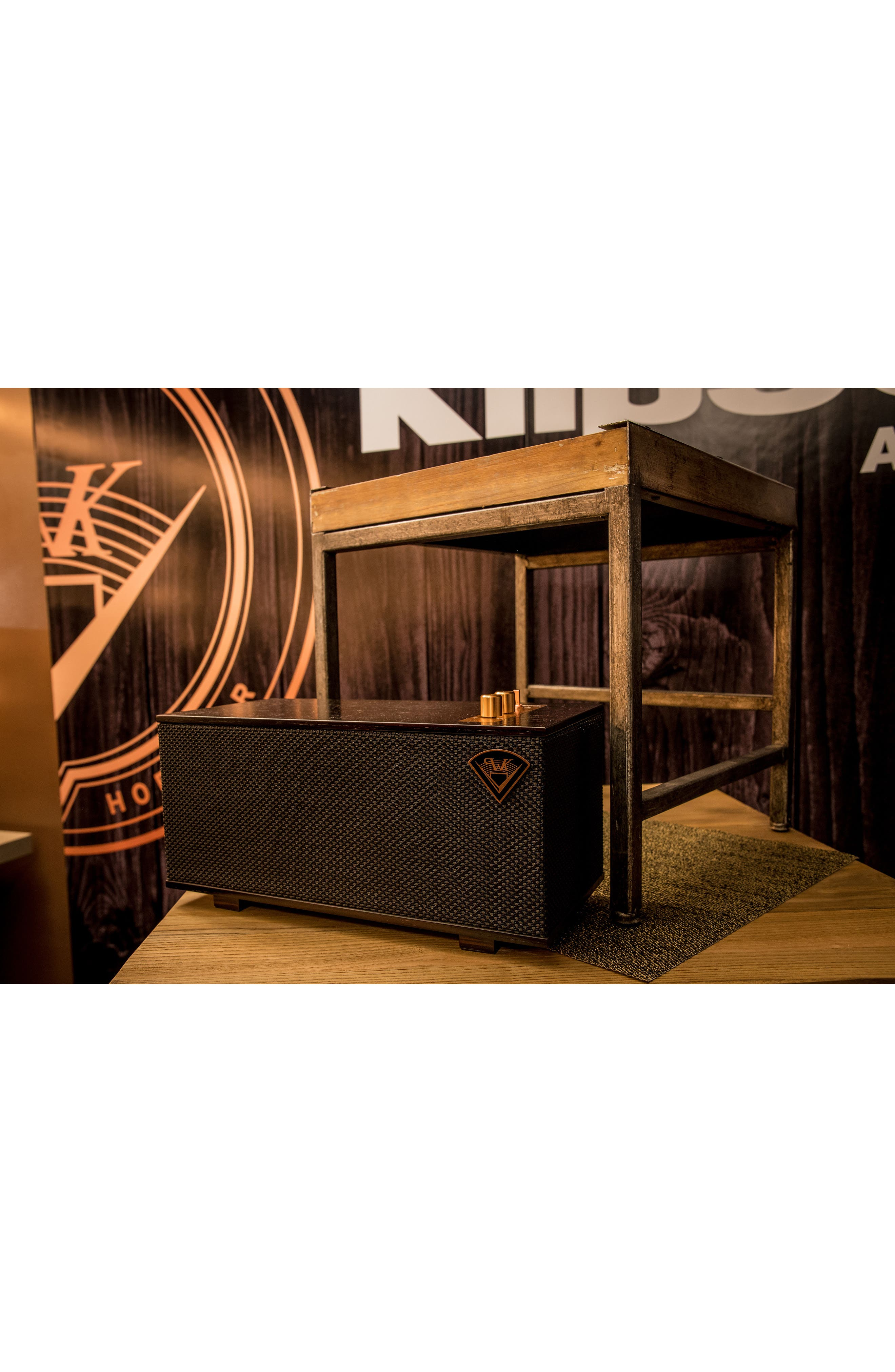 Klipsch The Three Bluetooth<sup>®</sup> Speaker,                             Alternate thumbnail 7, color,                             Ebony