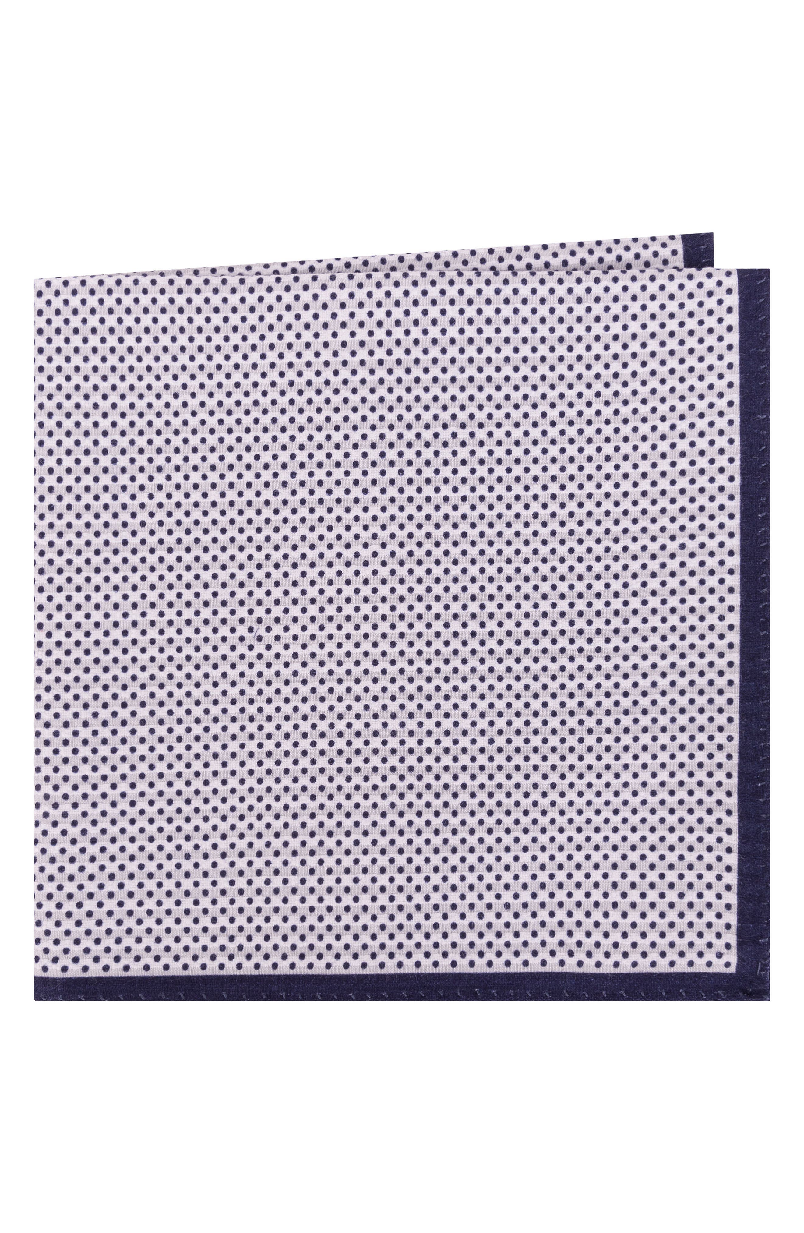Ted Baker London Seersucker Cotton Pocket Square