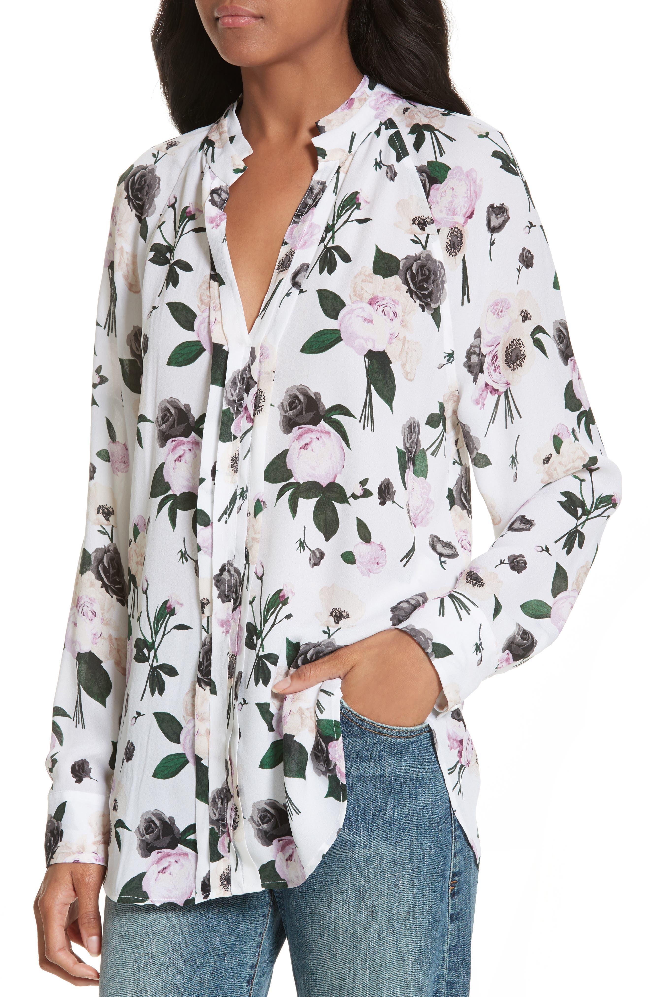 Alternate Image 4  - Equipment Liana Floral Print Silk Blouse