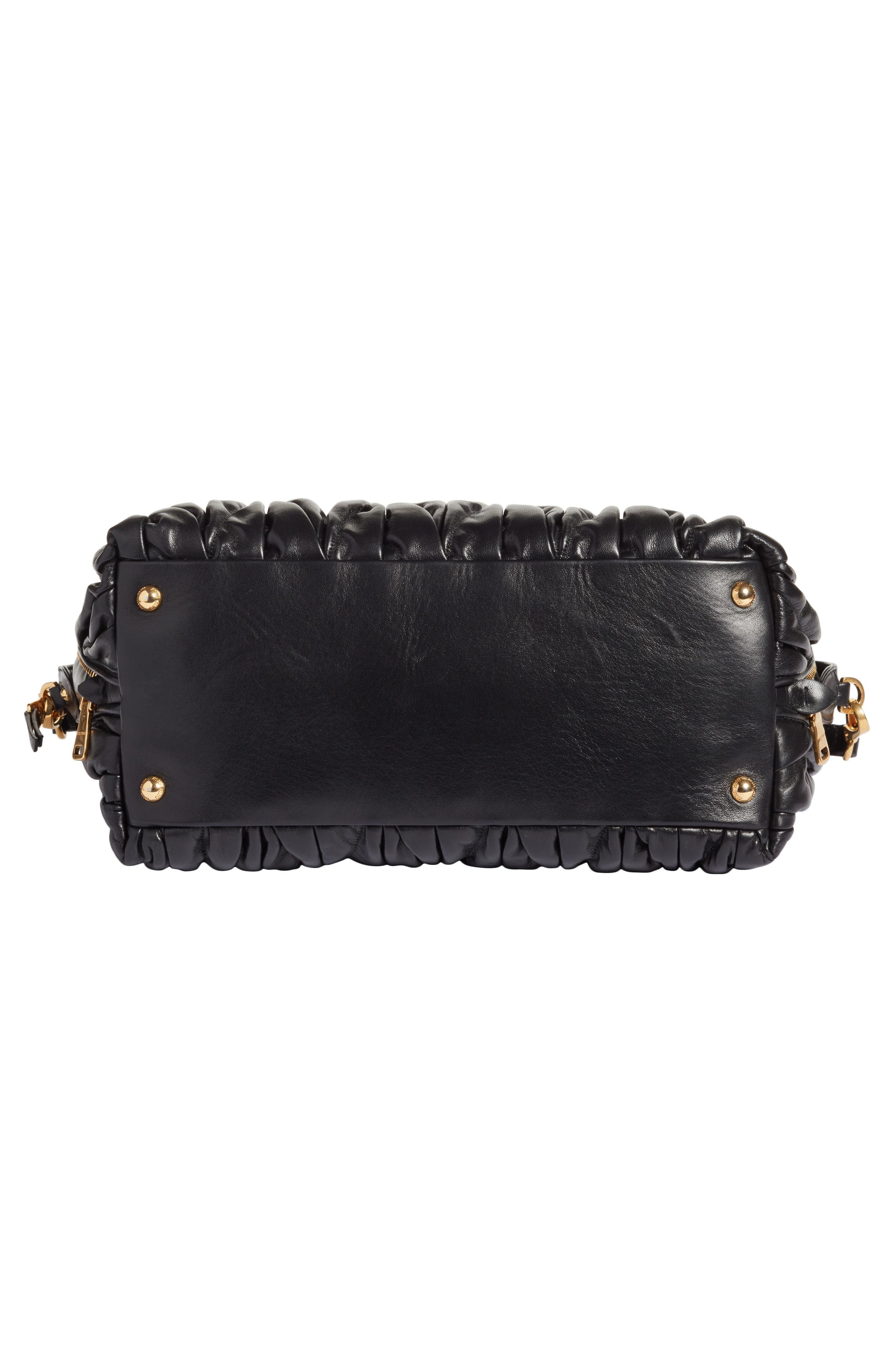Alternate Image 5  - Miu Miu Matelassé Leather Top Handle Satchel