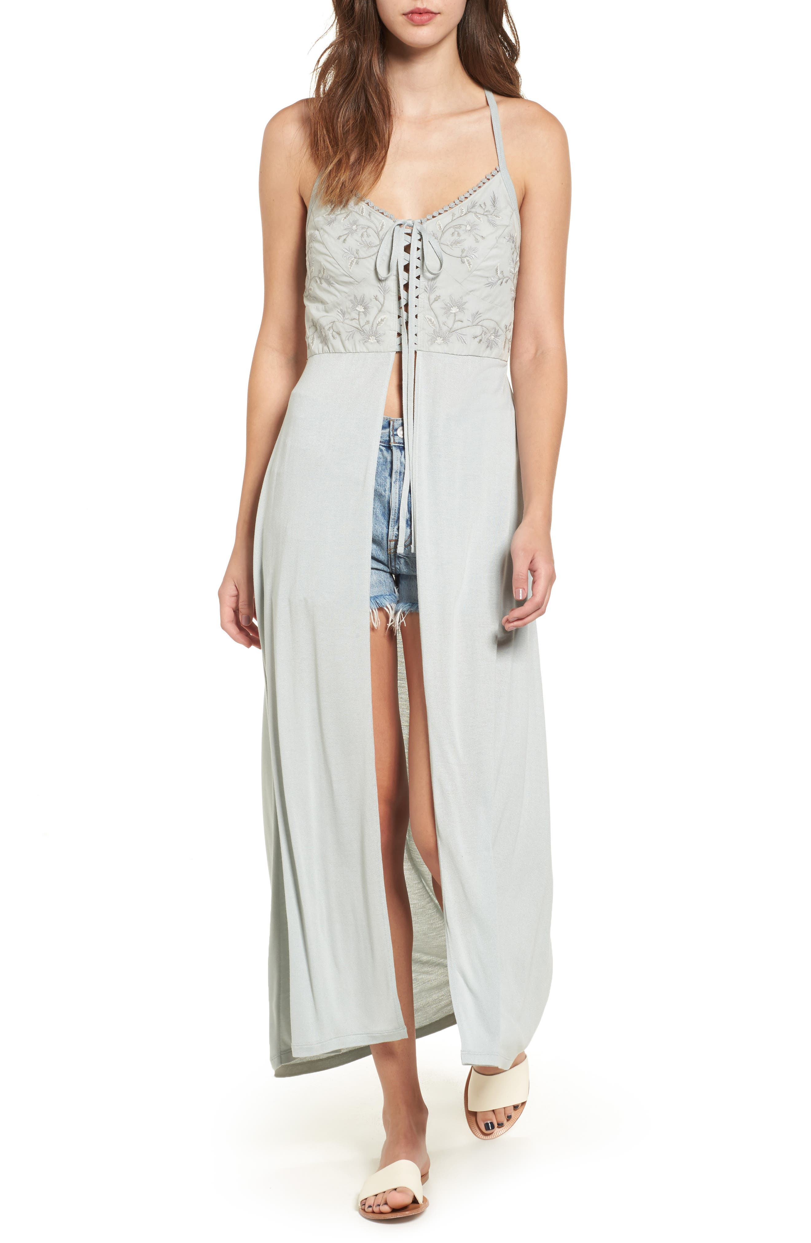 SUN & SHADOW Embroidered Maxi Top