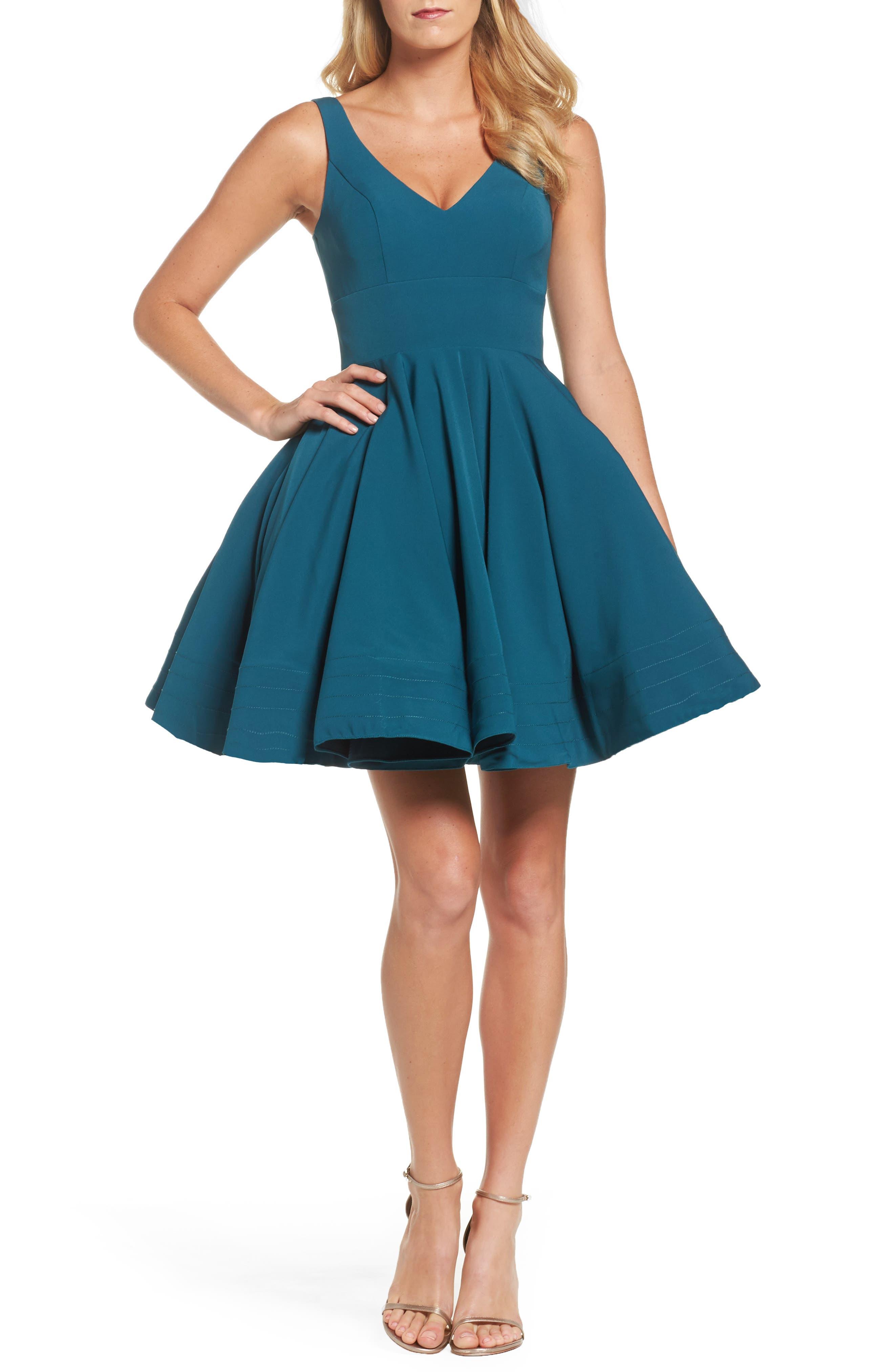Teal Cocktail Dress