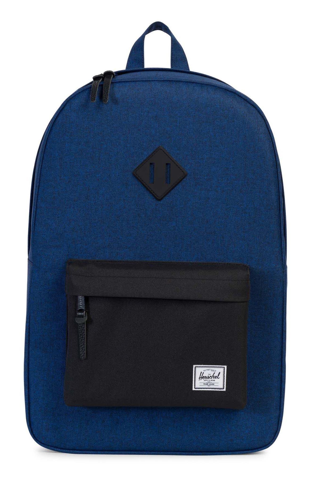 Heritage Backpack,                         Main,                         color, Eclipse Crosshatch/ Black