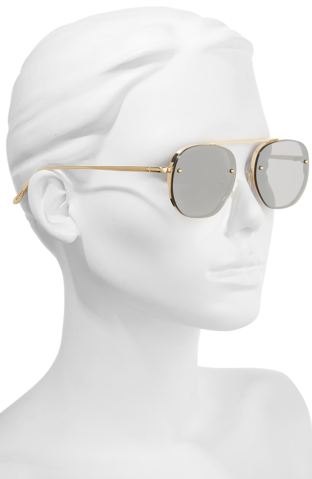 Alternate Image 3  - Bonnie Clyde Traction 52mm Aviator Sunglasses
