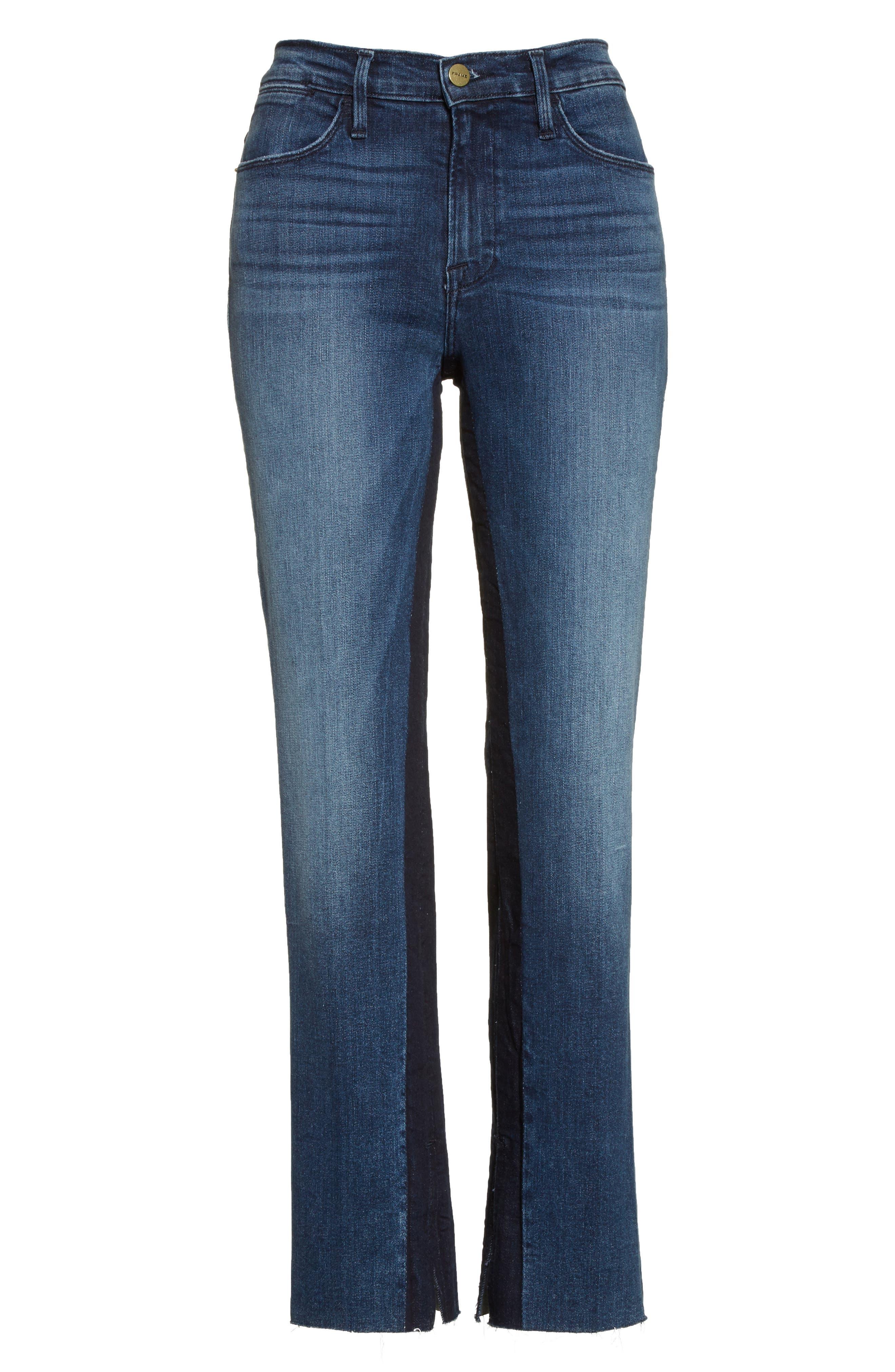 Alternate Image 7  - FRAME Le High Ankle Straight Leg Jeans (Elaine)