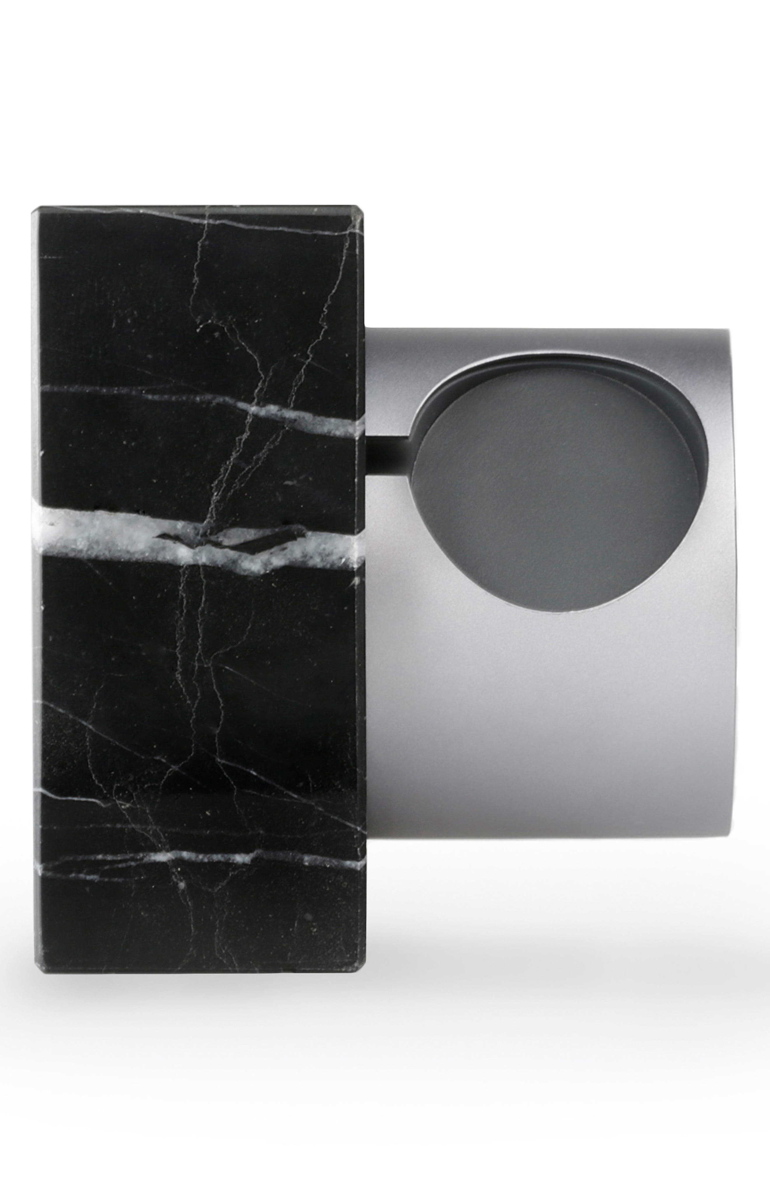 DOCK Marble Apple Watch Dock & Charging Station,                             Main thumbnail 1, color,                             Black Marble