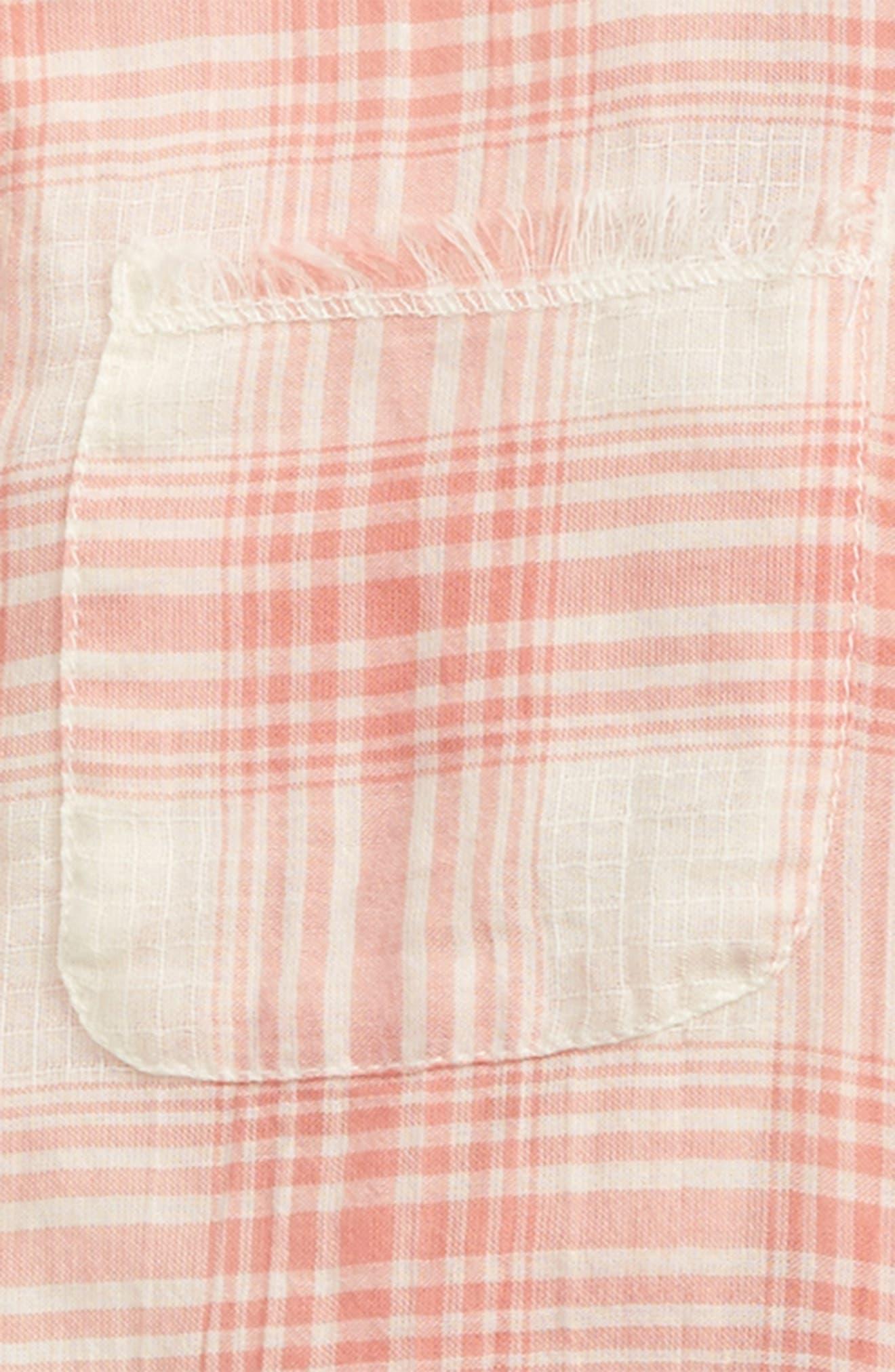 Plaid Shirt,                             Alternate thumbnail 2, color,                             Pink Lily Summer Plaid