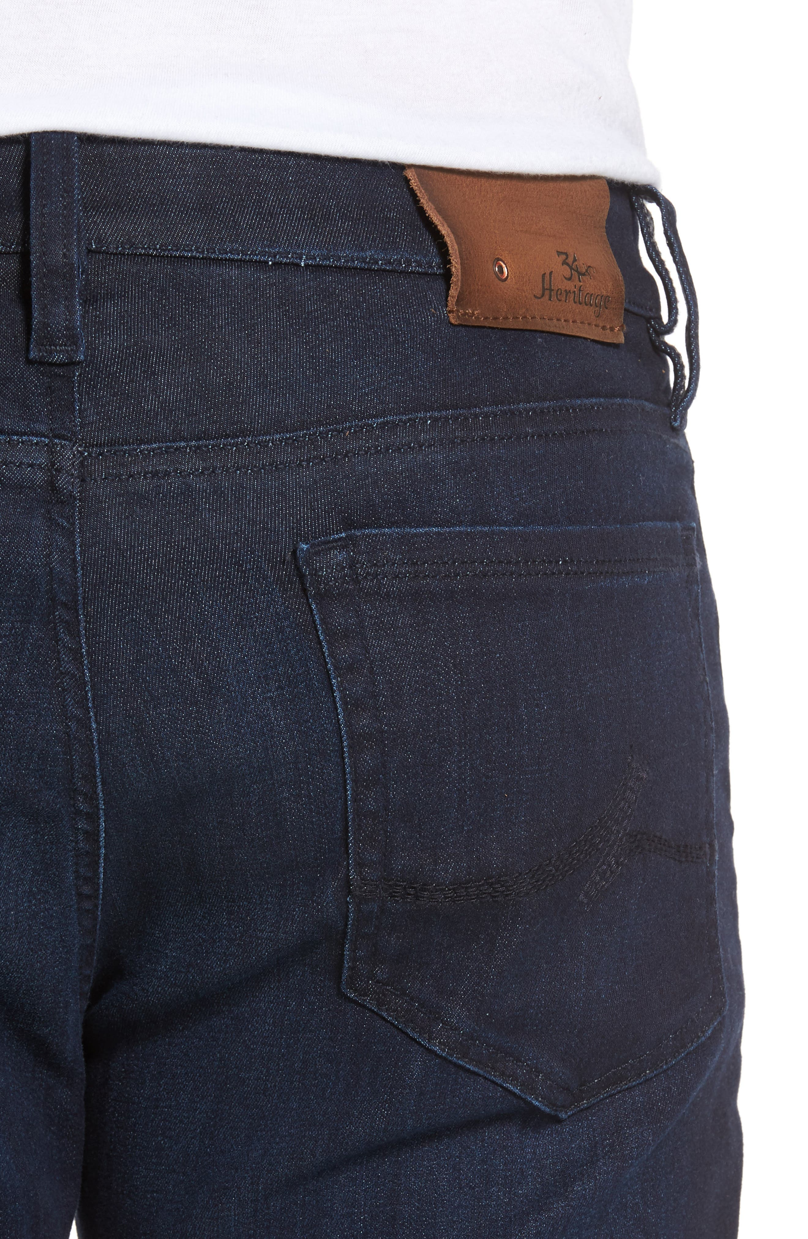 Alternate Image 4  - 34 Heritage Courage Straight Leg Jeans (Dark Rome)