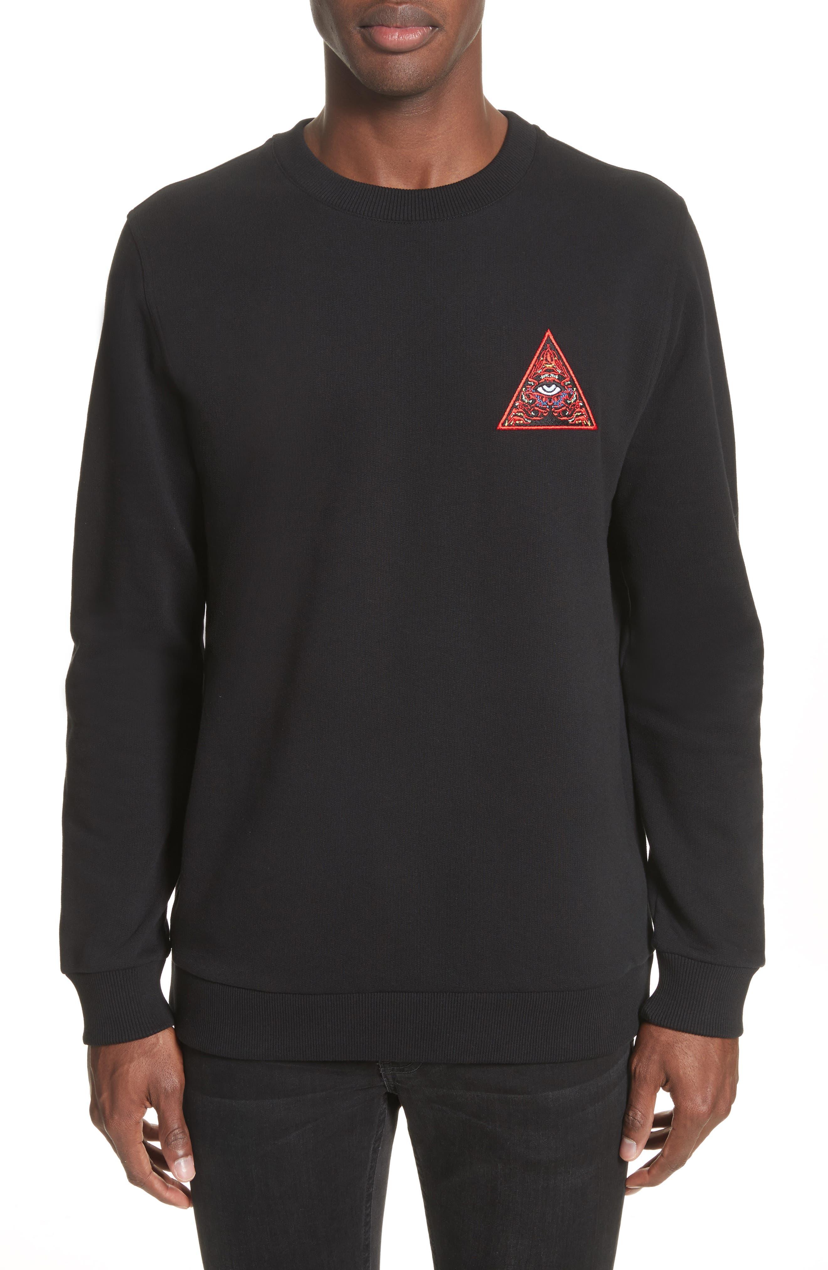 Cuban Fit Realize Sweatshirt,                         Main,                         color, Black