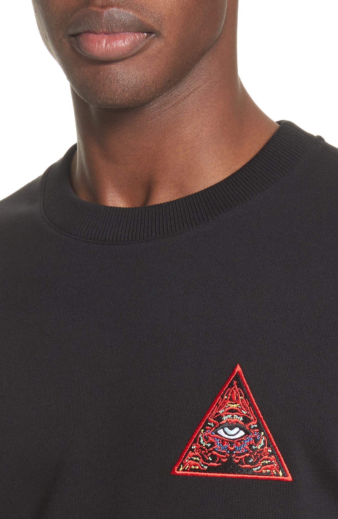 Cuban Fit Realize Sweatshirt,                             Alternate thumbnail 4, color,                             Black