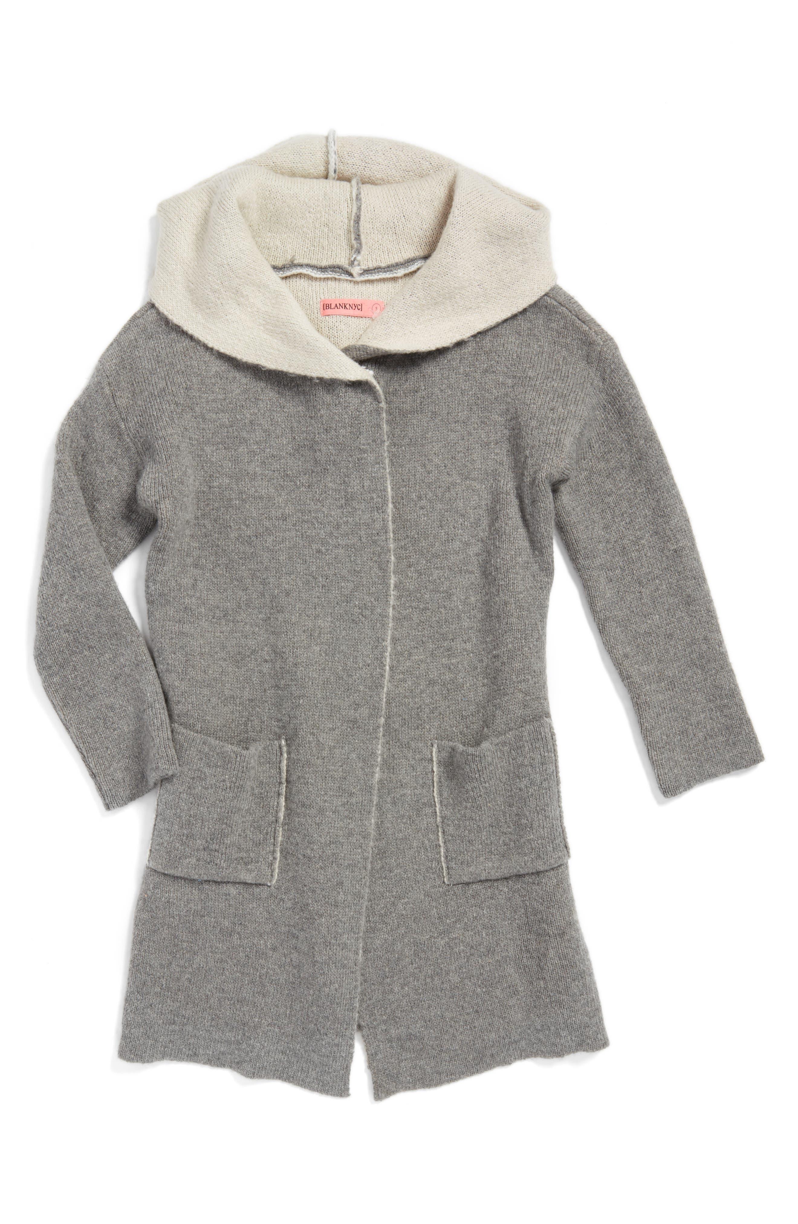 BLANKNYC Hooded Knit Cardigan (Big Girls)