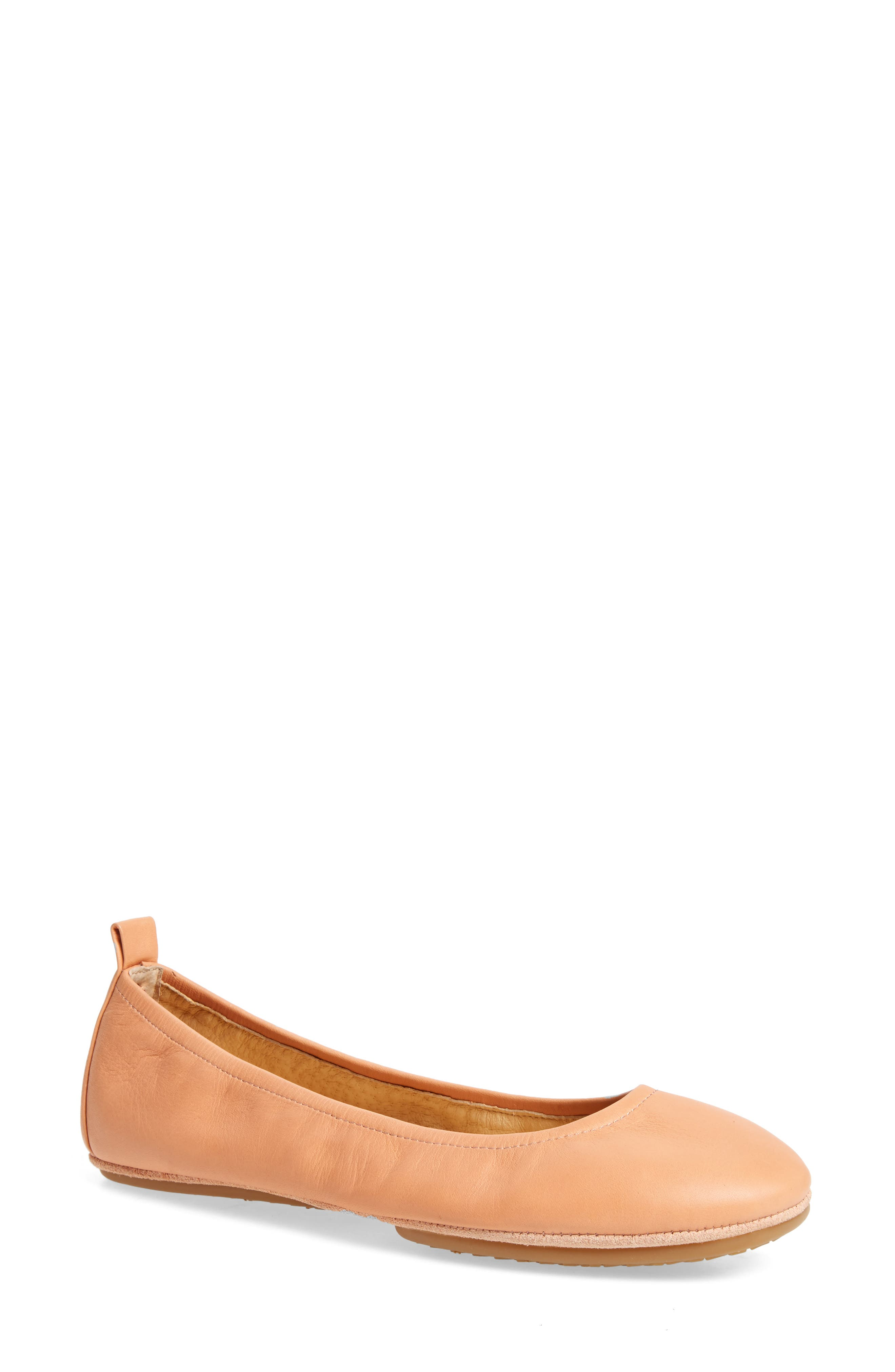 Stella Foldable Ballet Flat,                         Main,                         color, Clay
