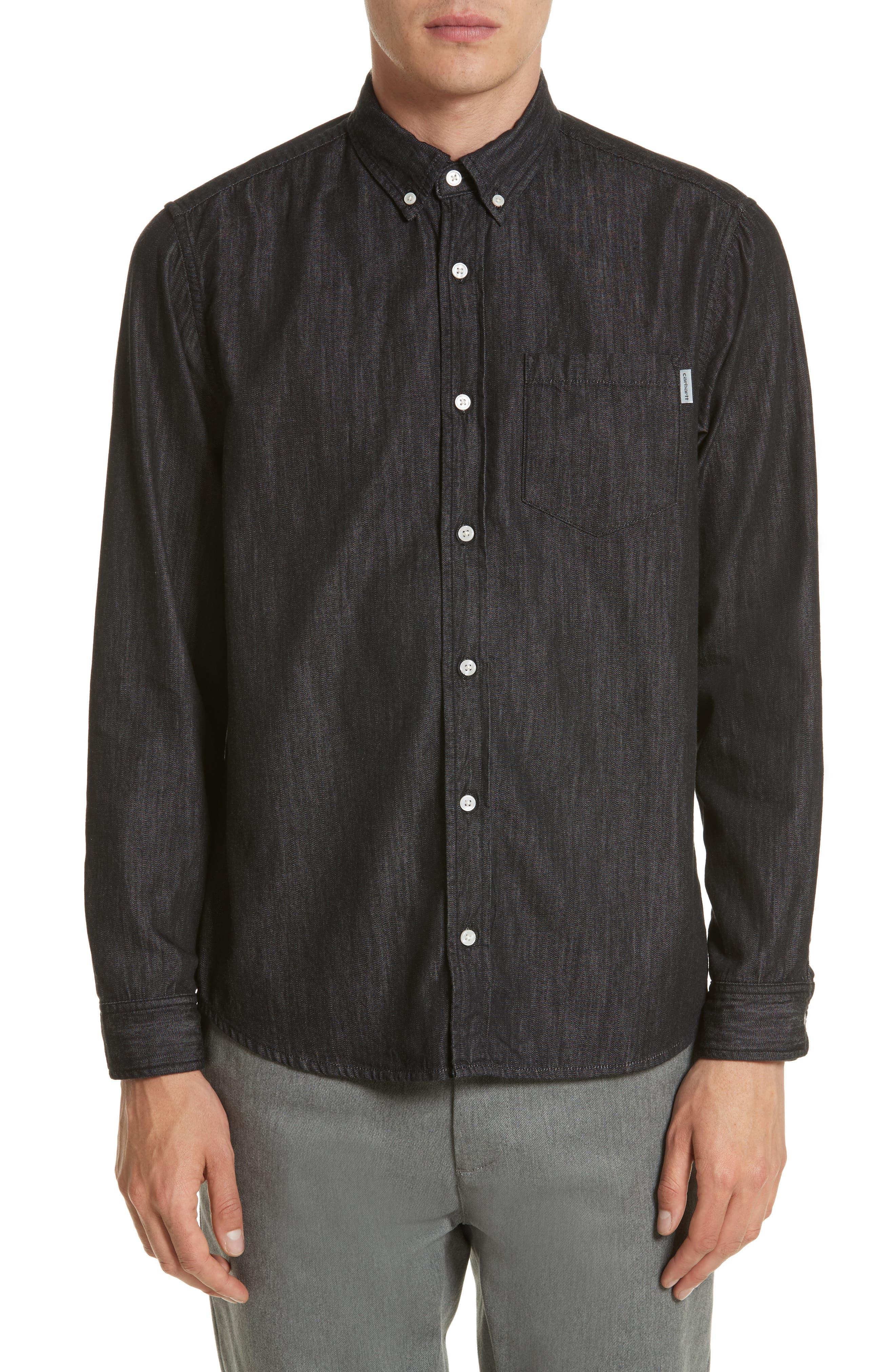Nashville Denim Shirt,                         Main,                         color, Black