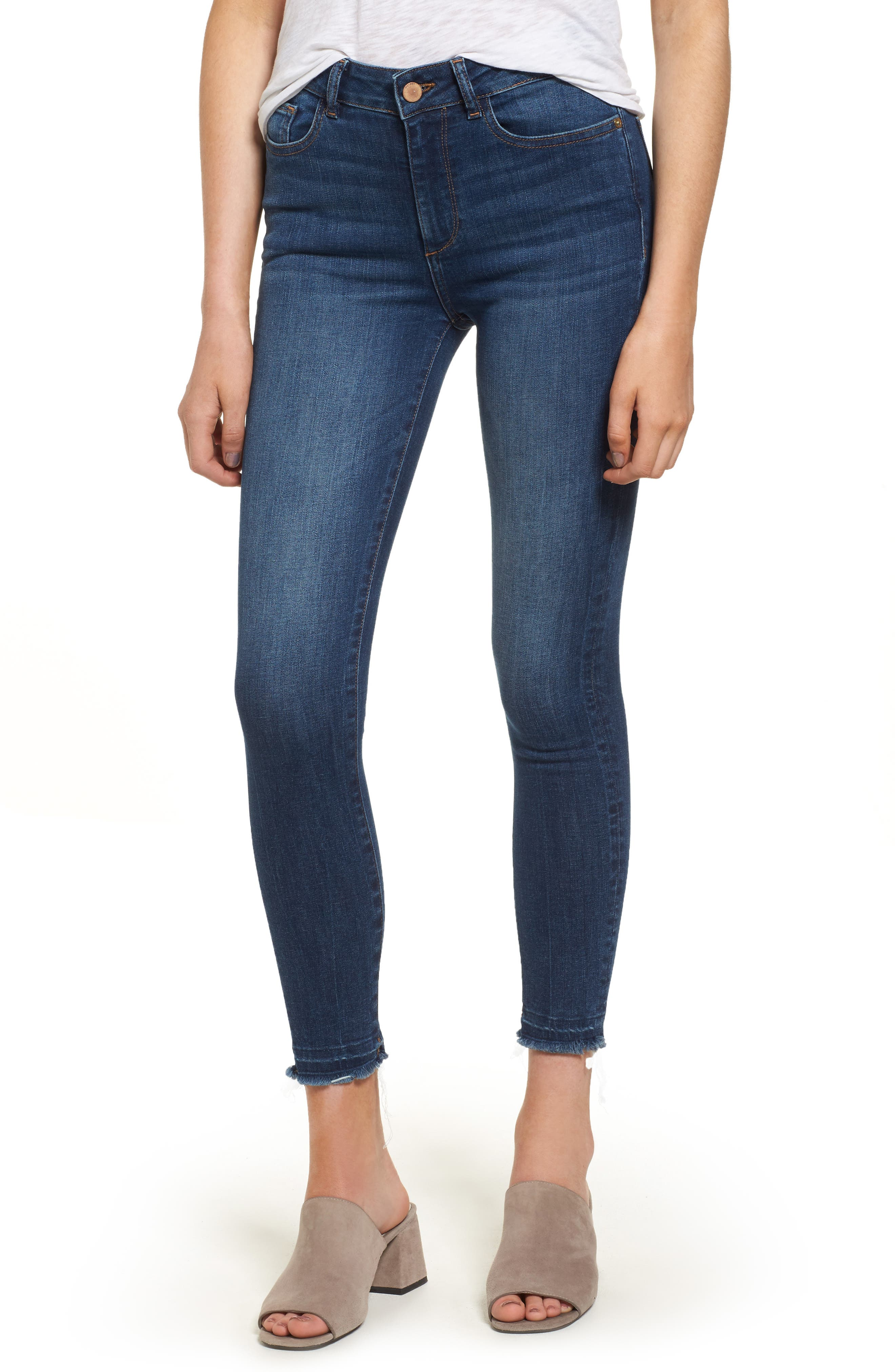 DL1961 Ryan High Waist Petite Skinny Jeans (Incognito)