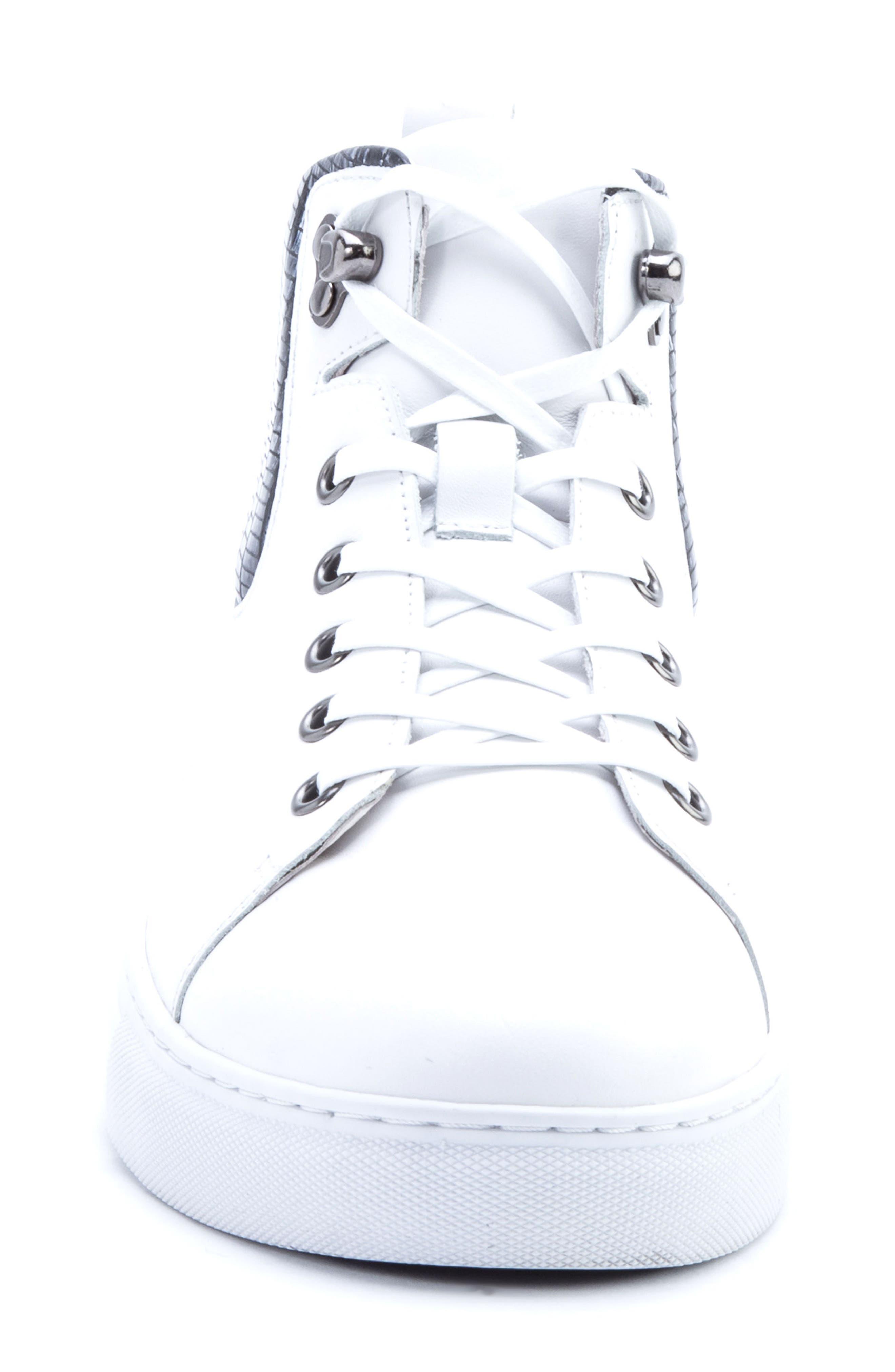 Carroll Sneaker,                             Alternate thumbnail 4, color,                             White Leather