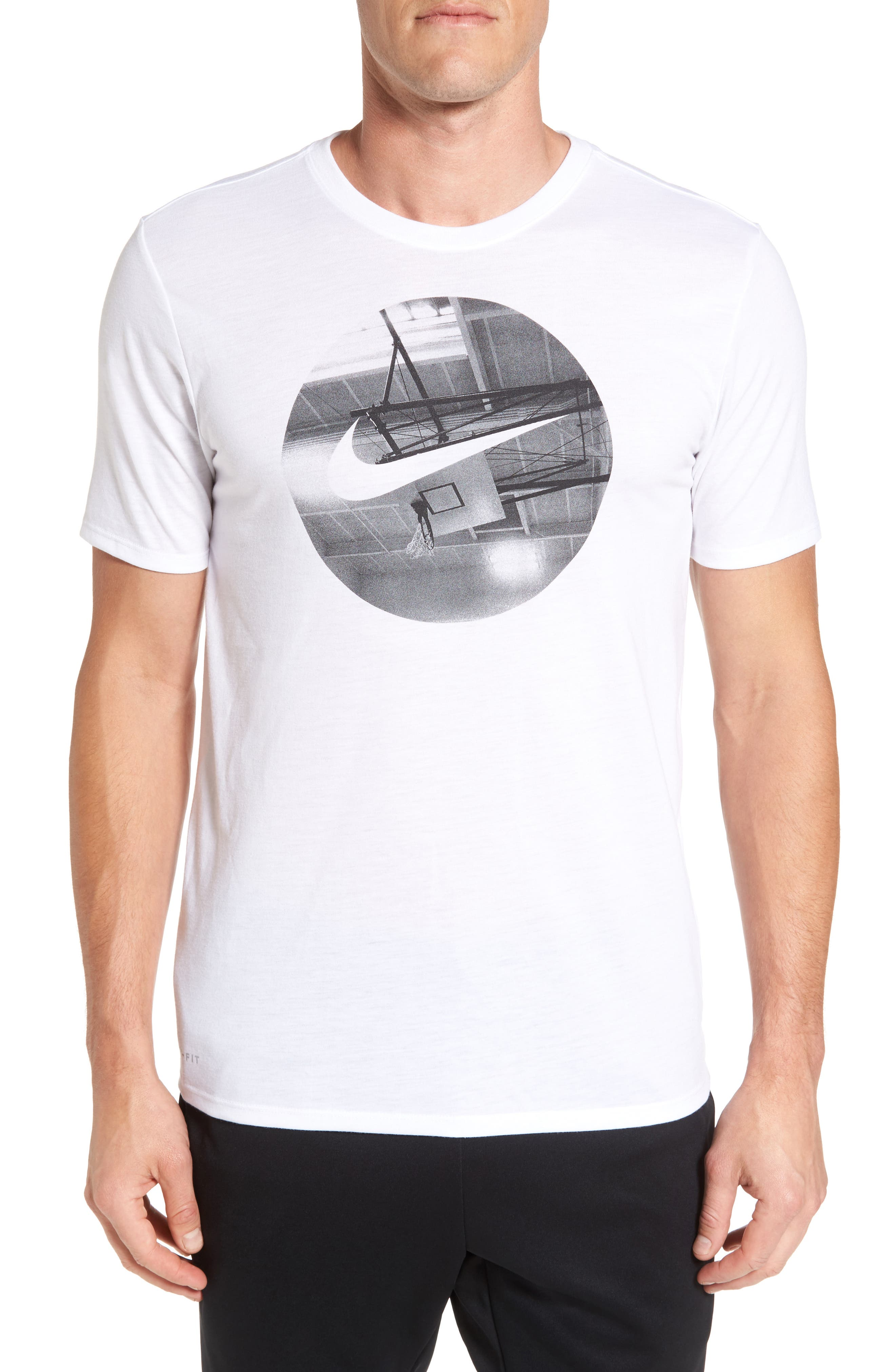 Photo Ball Graphic T-Shirt,                         Main,                         color, White/ White