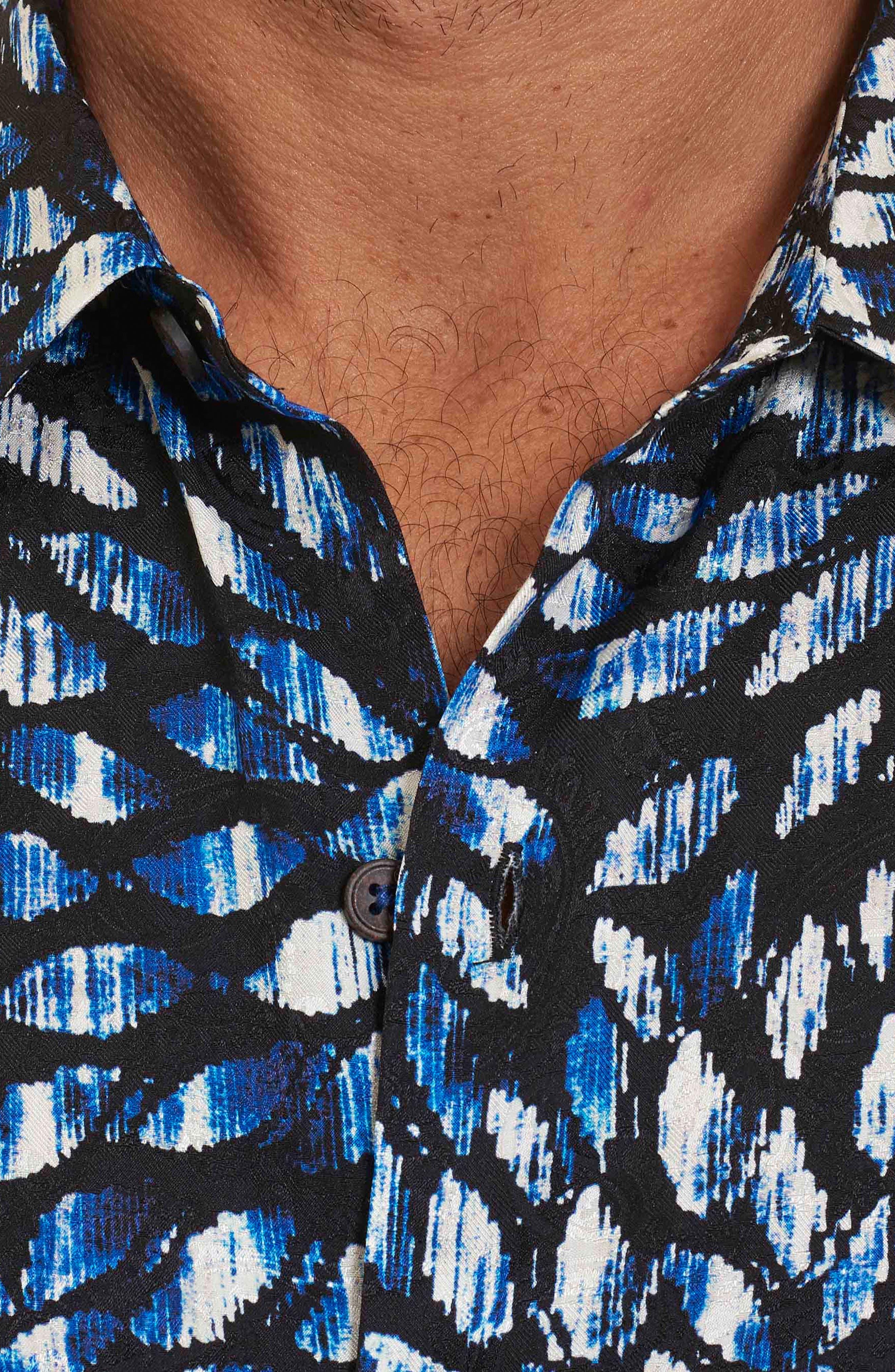 Alternate Image 4  - Robert Graham Pebble Beach Print Short Sleeve Sport Shirt