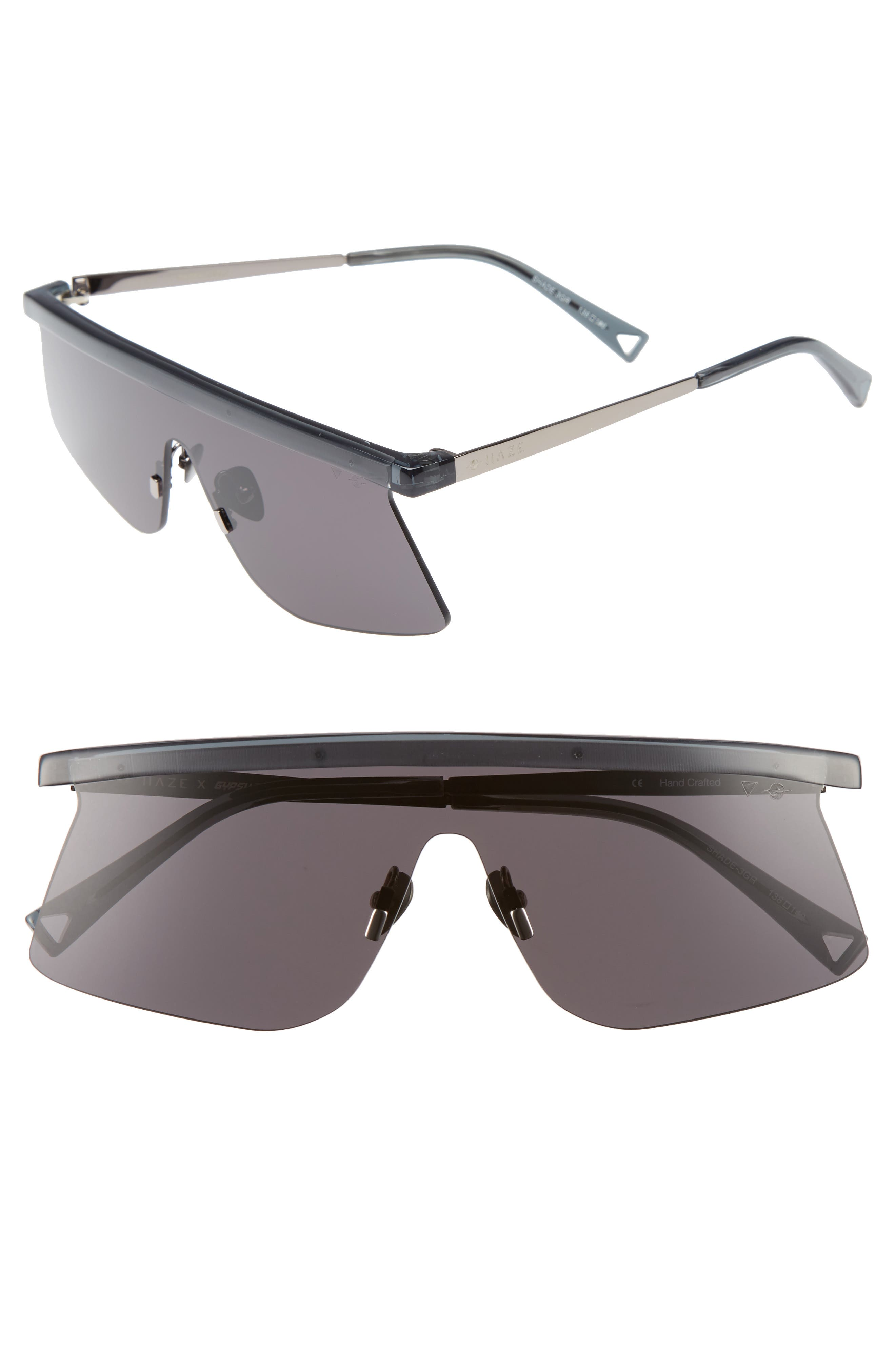 Shade Shield Sunglasses,                             Main thumbnail 1, color,                             Crystal Charcoal