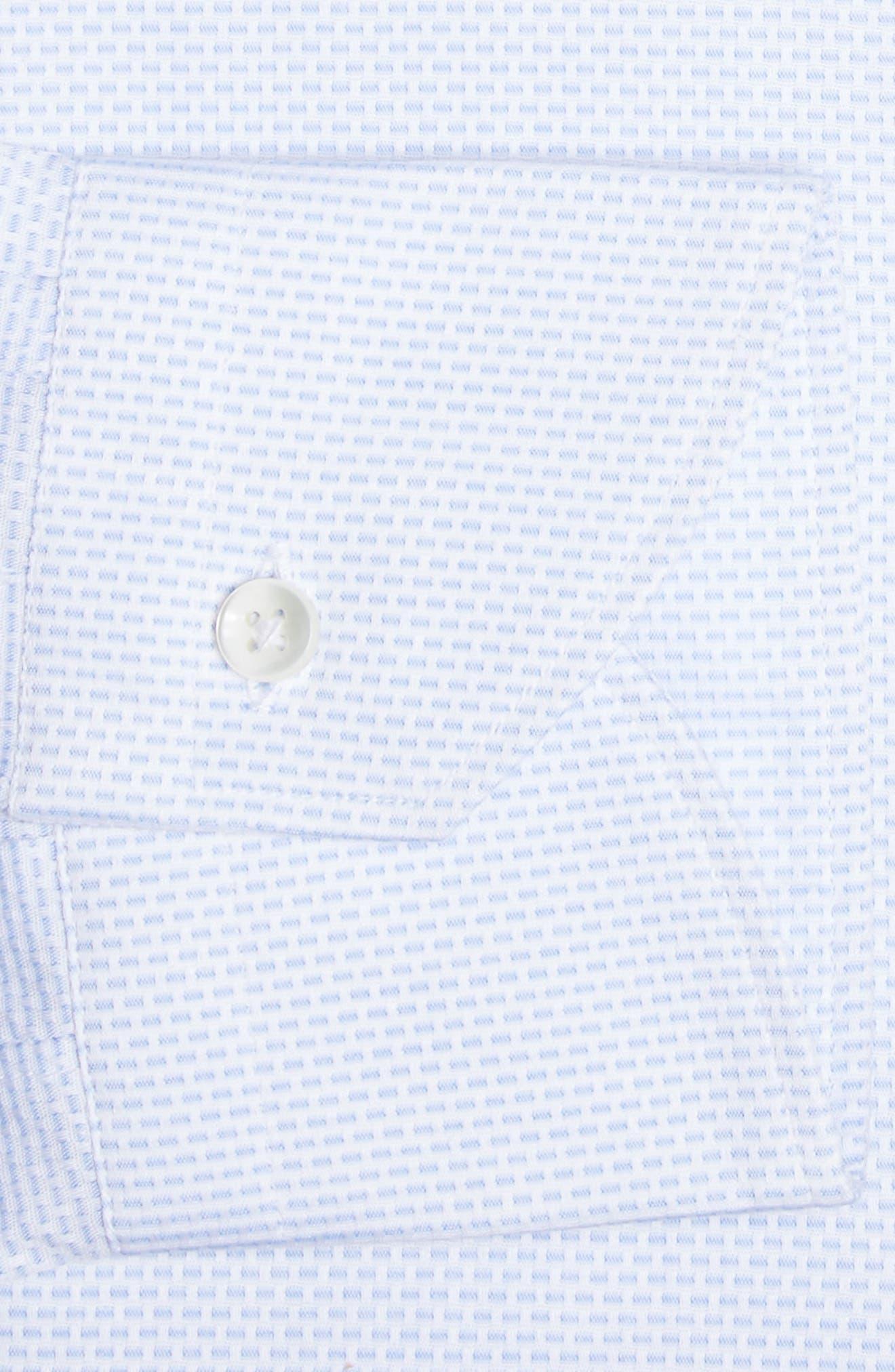 Alternate Image 4  - Canali Regular Fit Solid Dress Shirt
